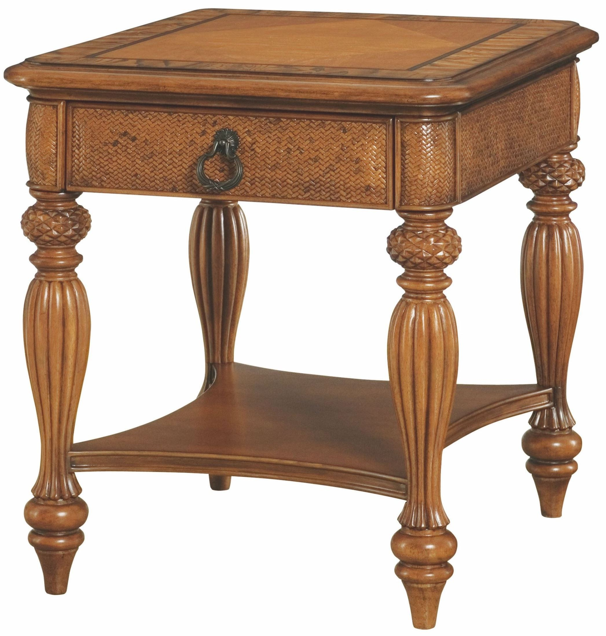 Grand isle amber rectangular end table from american drew for Grande table