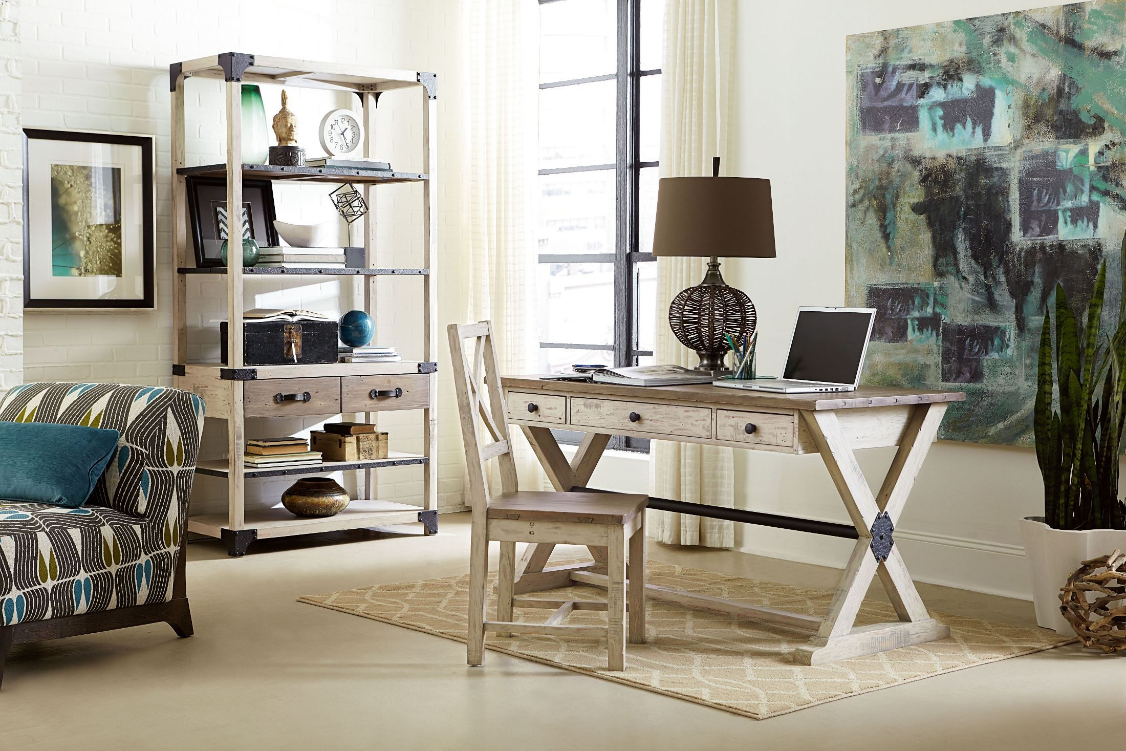 home office set. reclamation place home office set