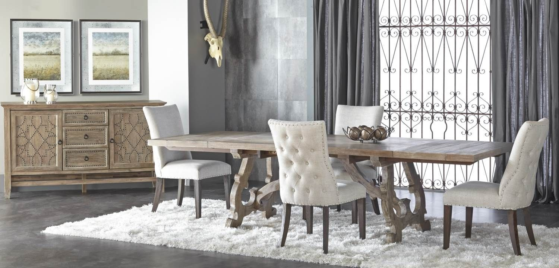 Haute Gray Wash Rectangular Extendable Trestle Dining