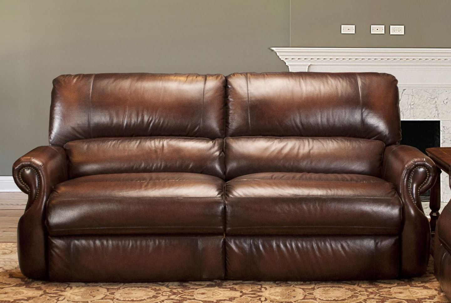 Hawthorne Brown Wipe Dual Power Reclining Sofa From Parker Living Mhaw 832p Br Coleman Furniture
