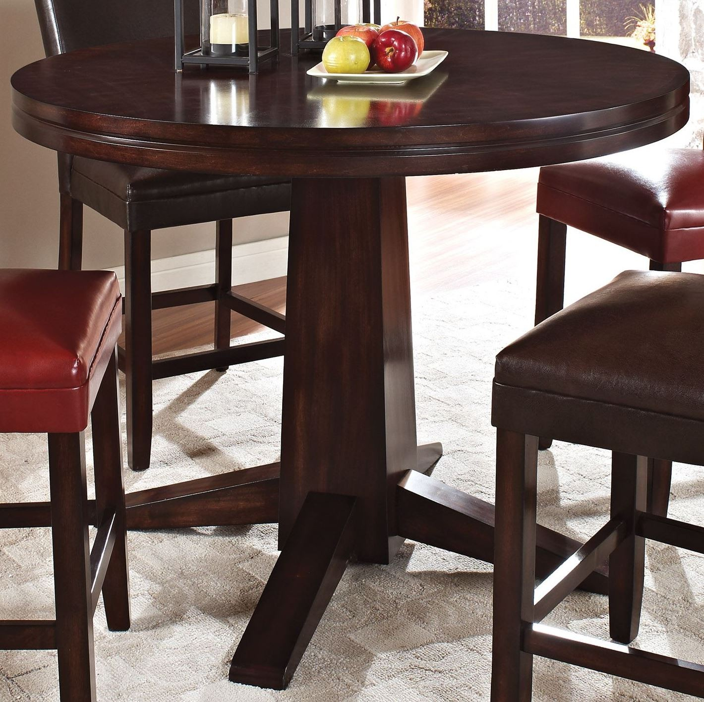 Hartford Round Pedestal Counter Height Table From Steve