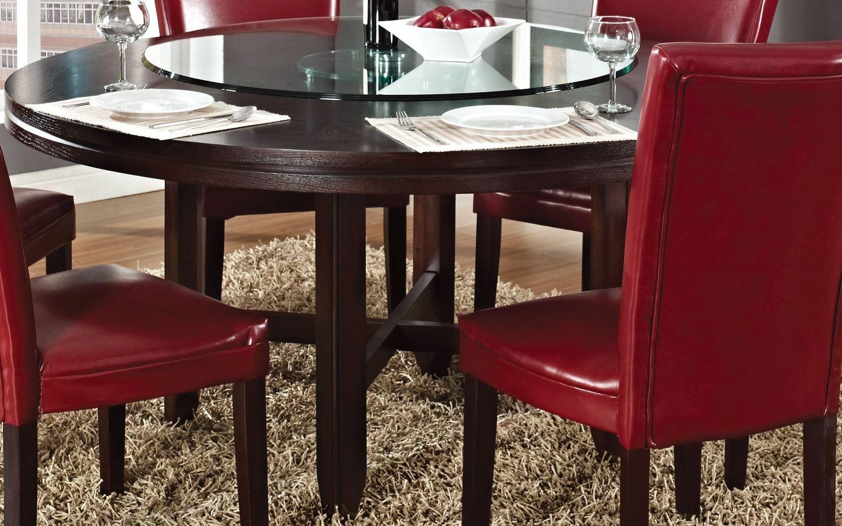 hartford dark oak 62 round dining table - Dark Oak Dining Table