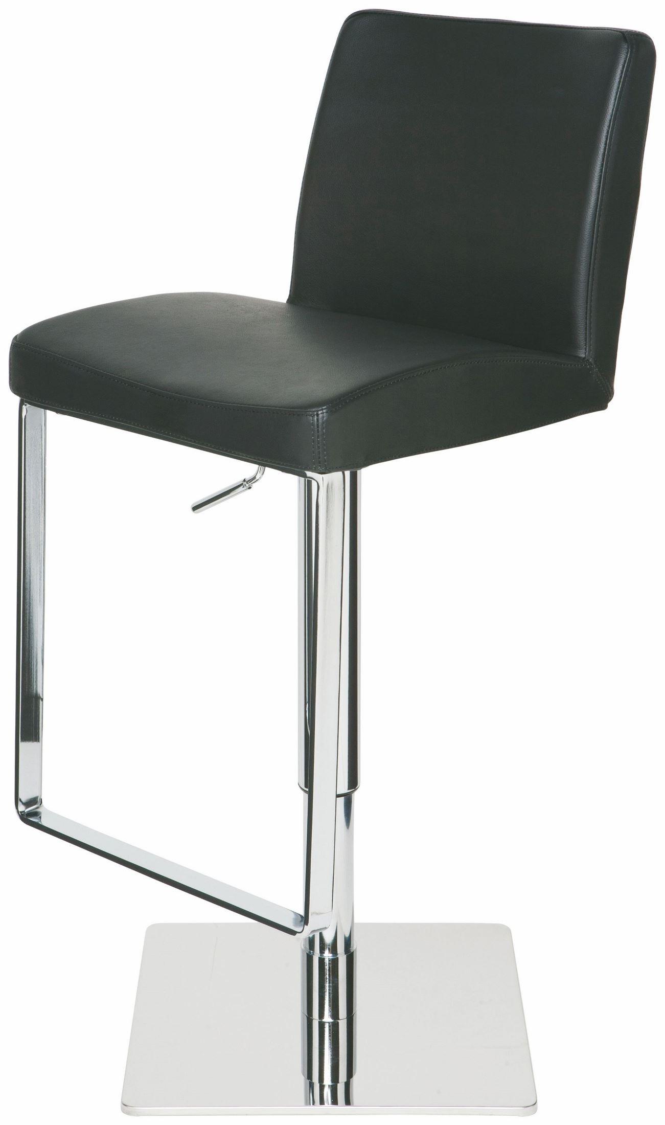 Matteo Black Leather Adjustable Stool From Nuevo Coleman Furniture