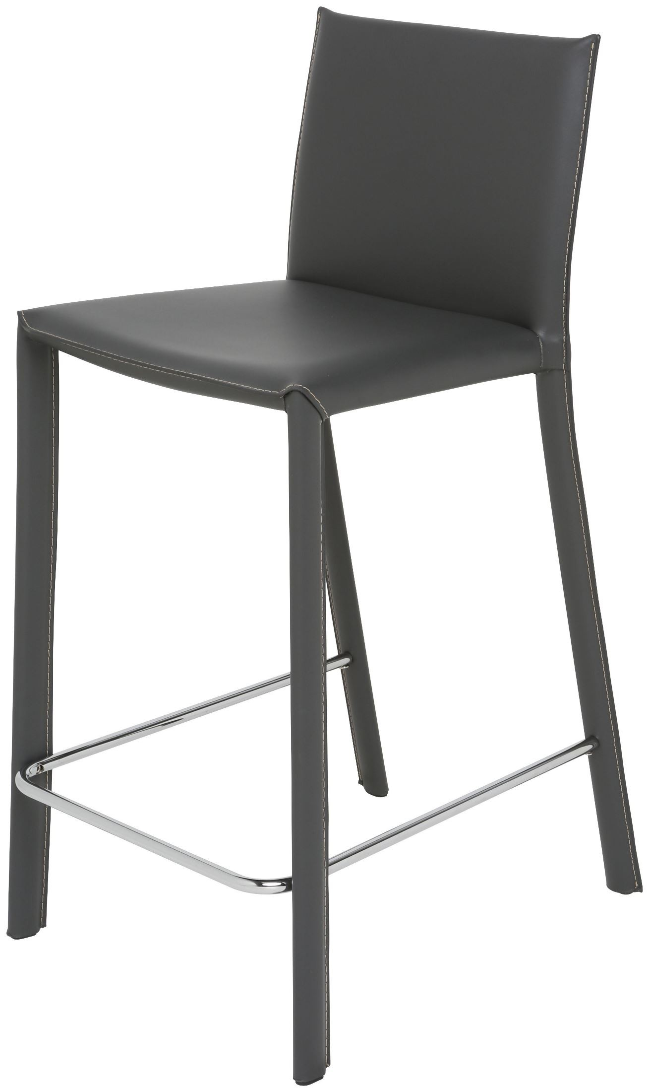 Bridget Grey Leather Counter Stool From Nuevo Coleman