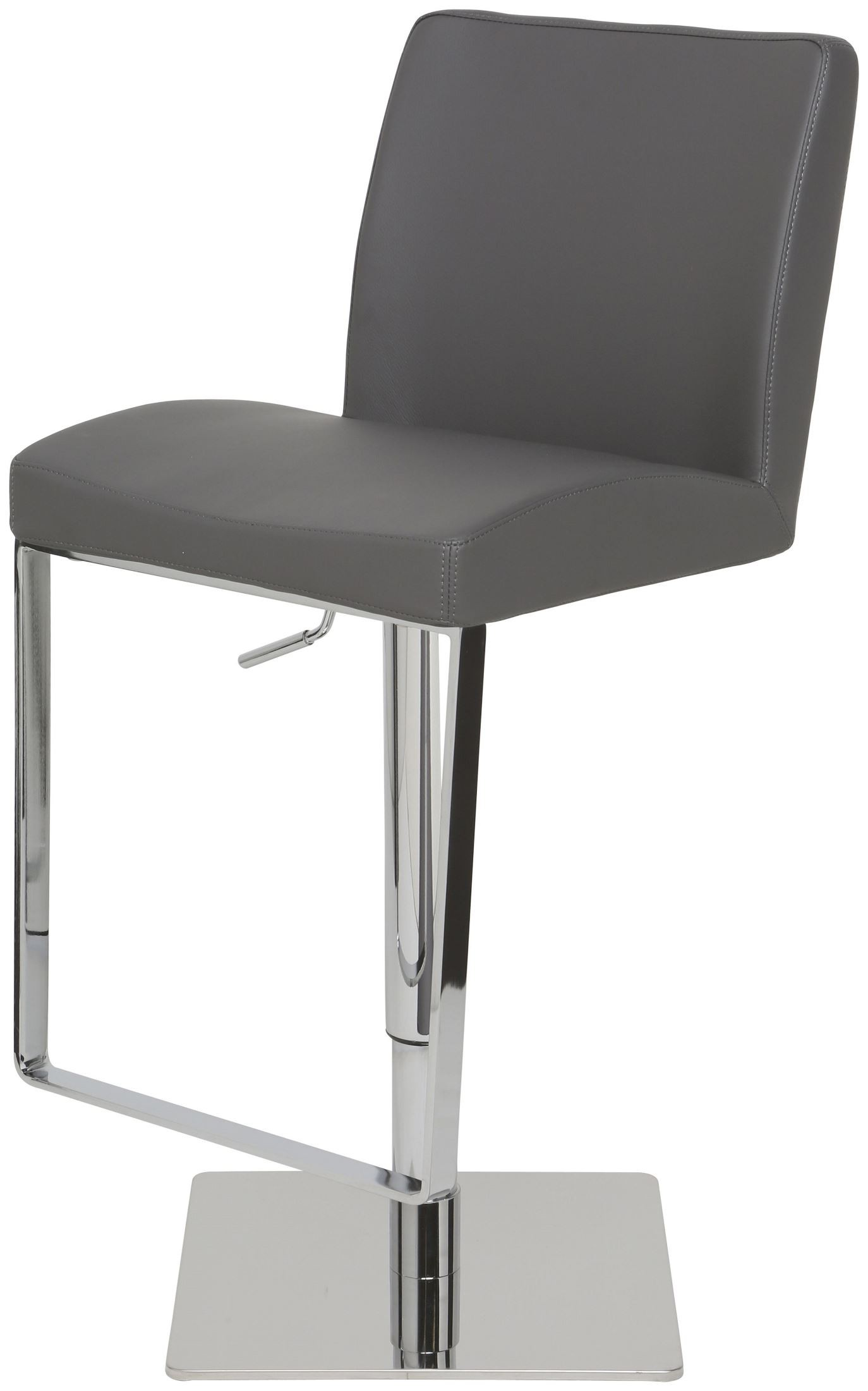 Matteo Grey Leather Adjustable Stool From Nuevo Coleman