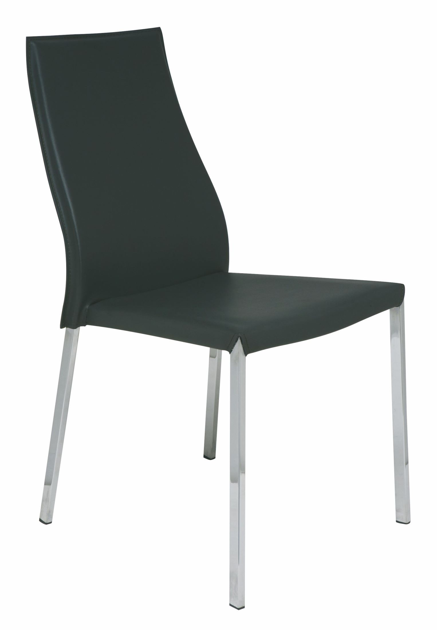 eric dark grey leather dining chair from nuevo coleman furniture. Black Bedroom Furniture Sets. Home Design Ideas