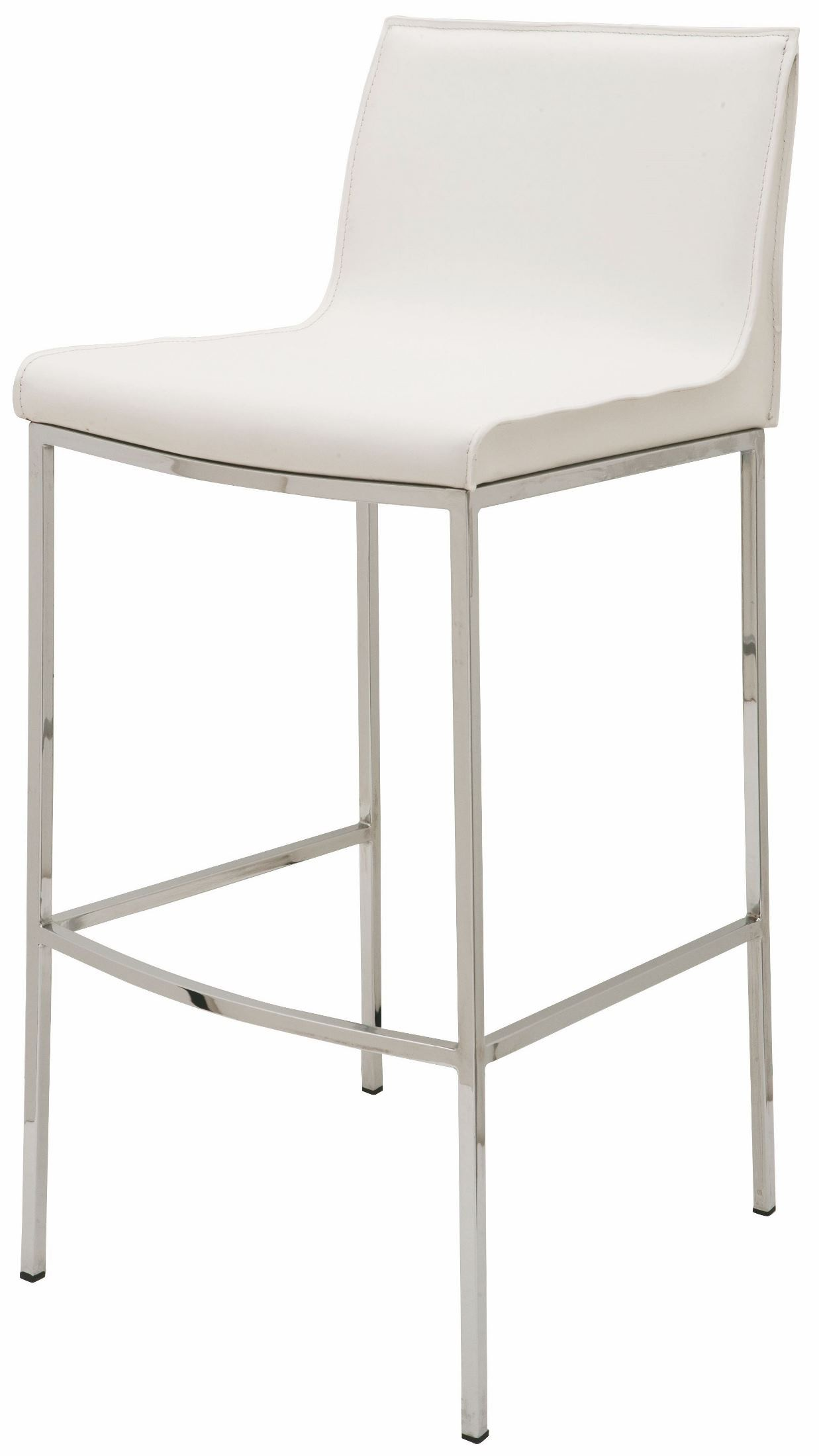 Colter White Leather Bar Stool From Nuevo Coleman Furniture