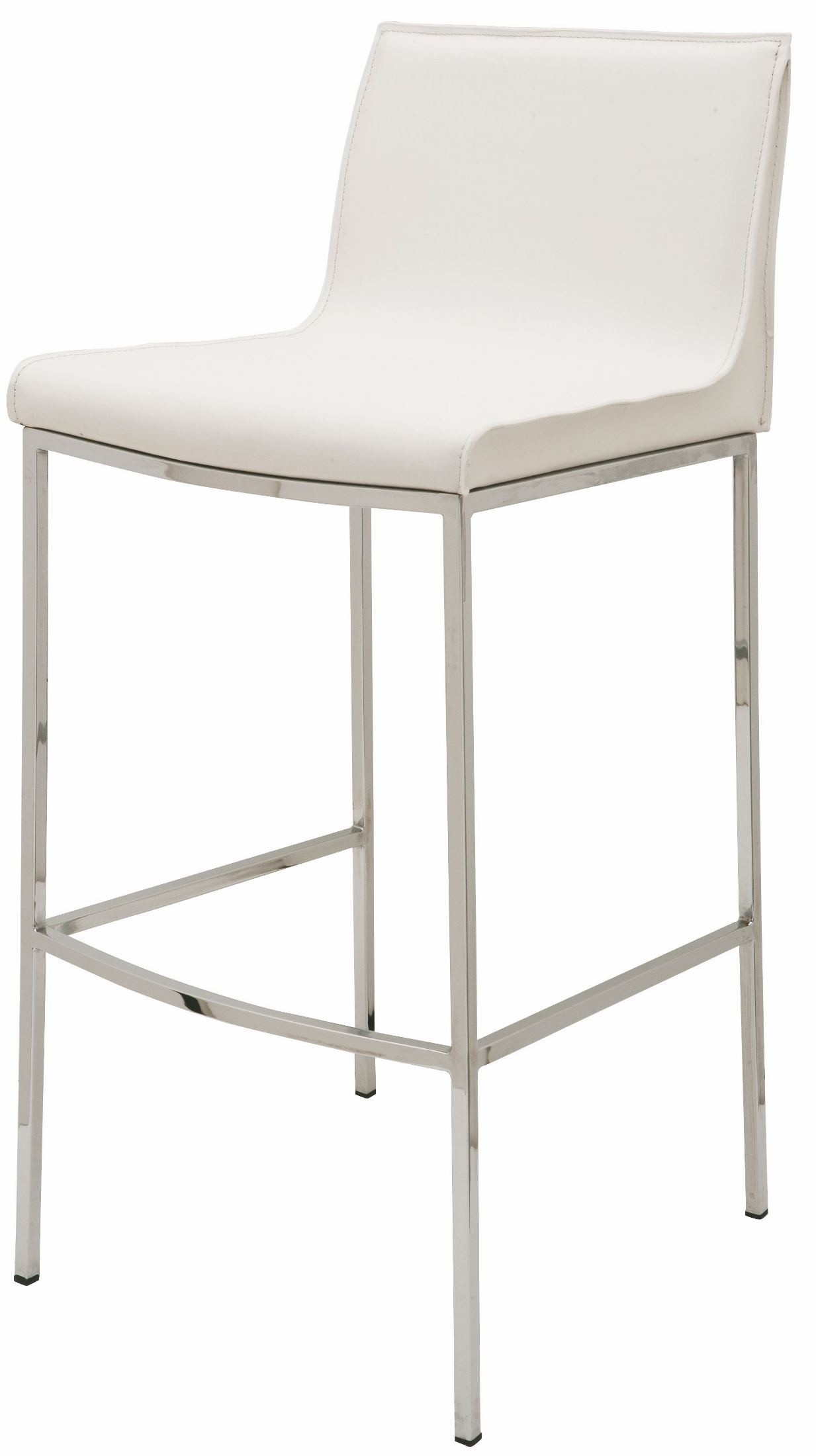 Colter White Leather Counter Stool From Nuevo Coleman