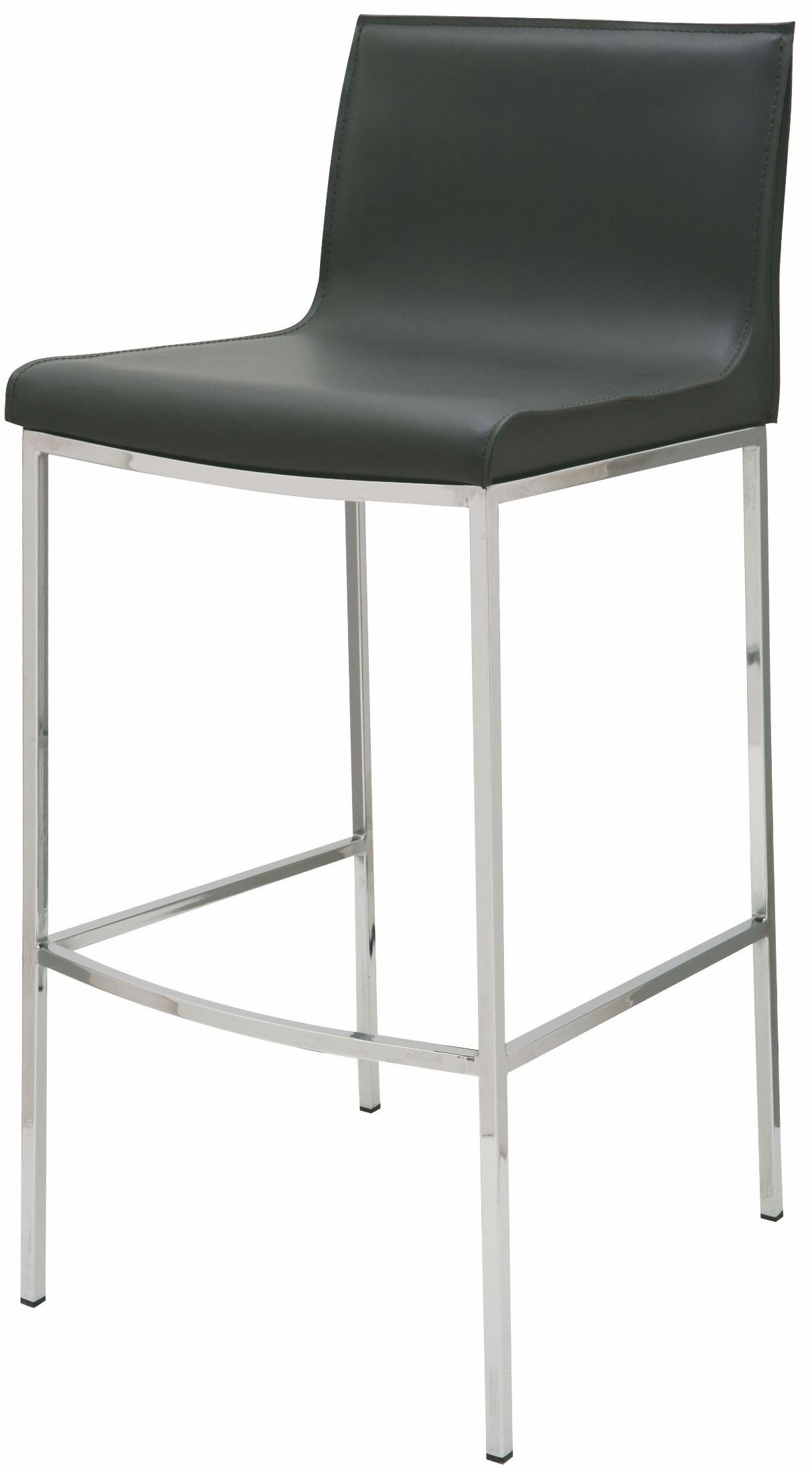 Colter Black Leather Bar Stool From Nuevo Coleman Furniture