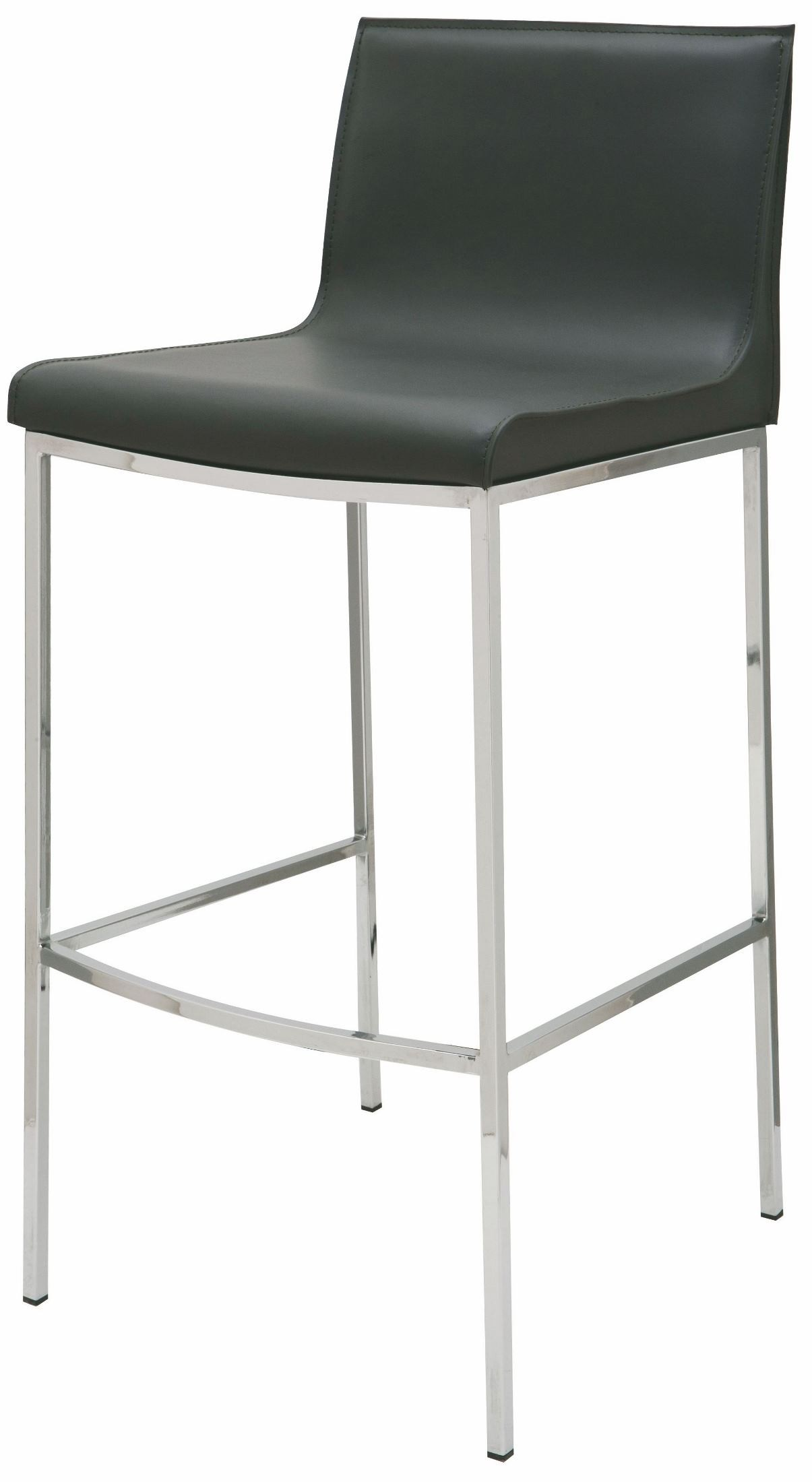 Colter Black Leather Counter Stool From Nuevo Coleman
