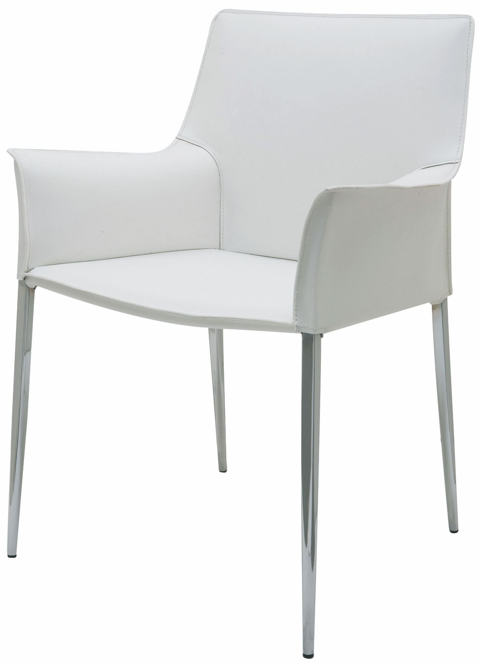 Colter White Leather Dining Arm Chair from Nuevo | Coleman ...