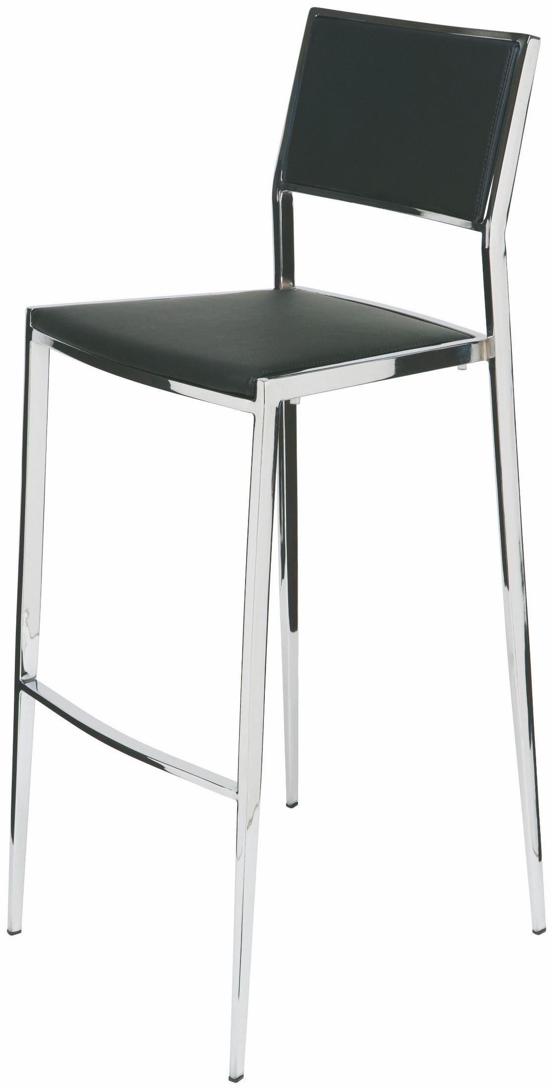 Aaron Black Naugahyde Bar Stool From Nuevo Coleman Furniture