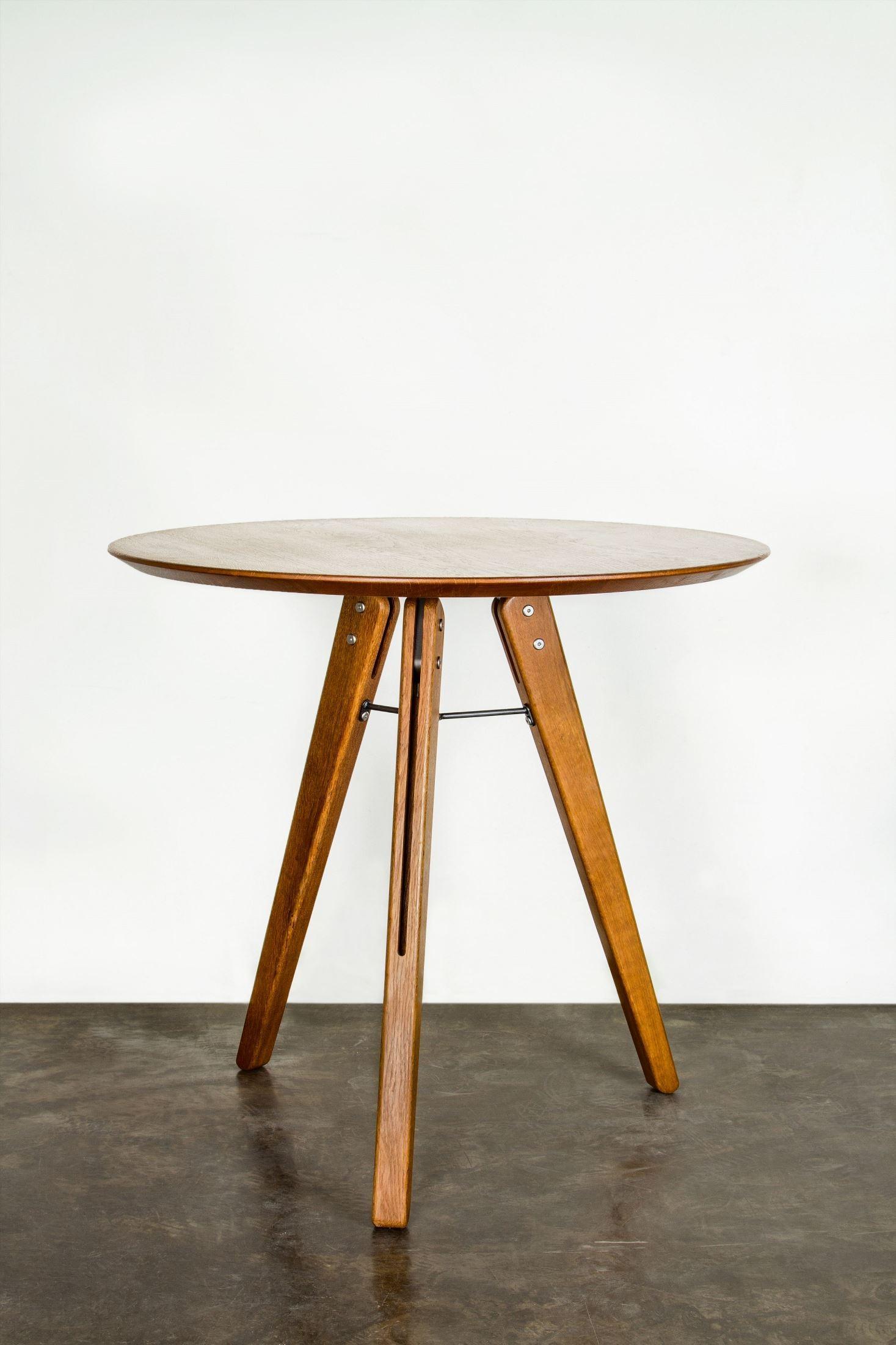 Theo Hard Fumed Wood Bistro Table