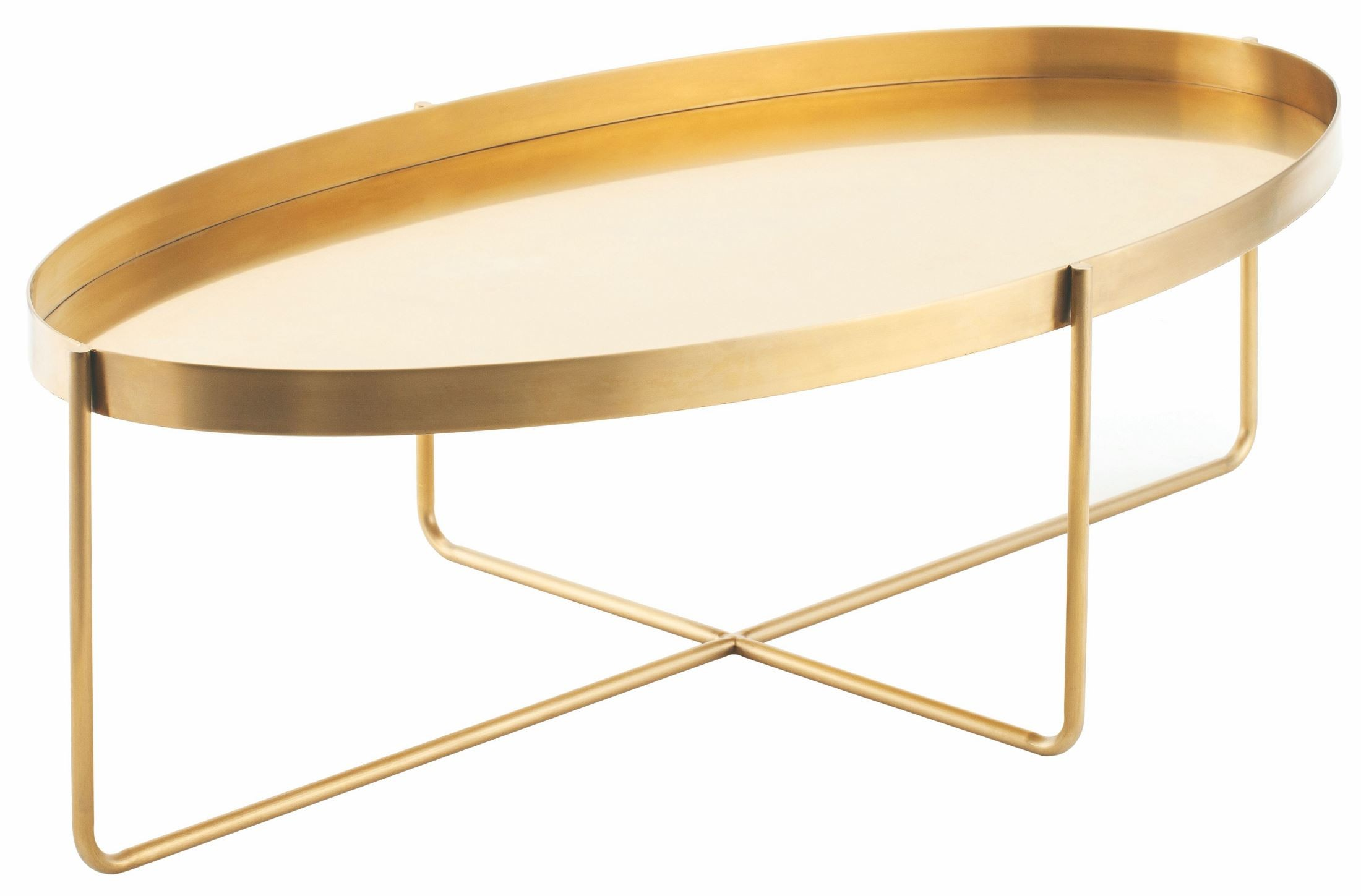 Gaultier 54 gold metal coffee table from nuevo coleman furniture Gold metal coffee table