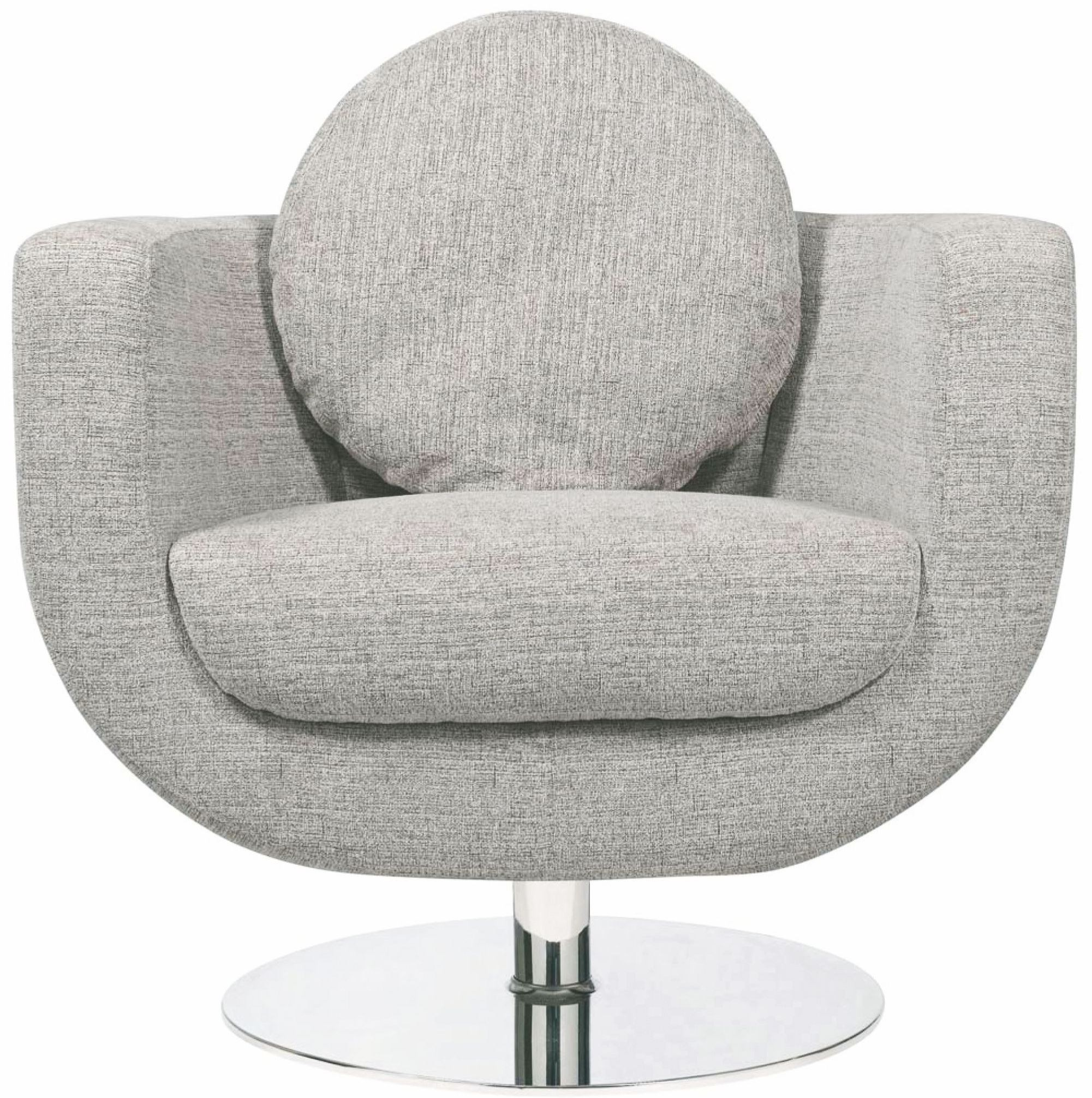 Simone Grey Fabric Lounger Chair From Nuevo Coleman