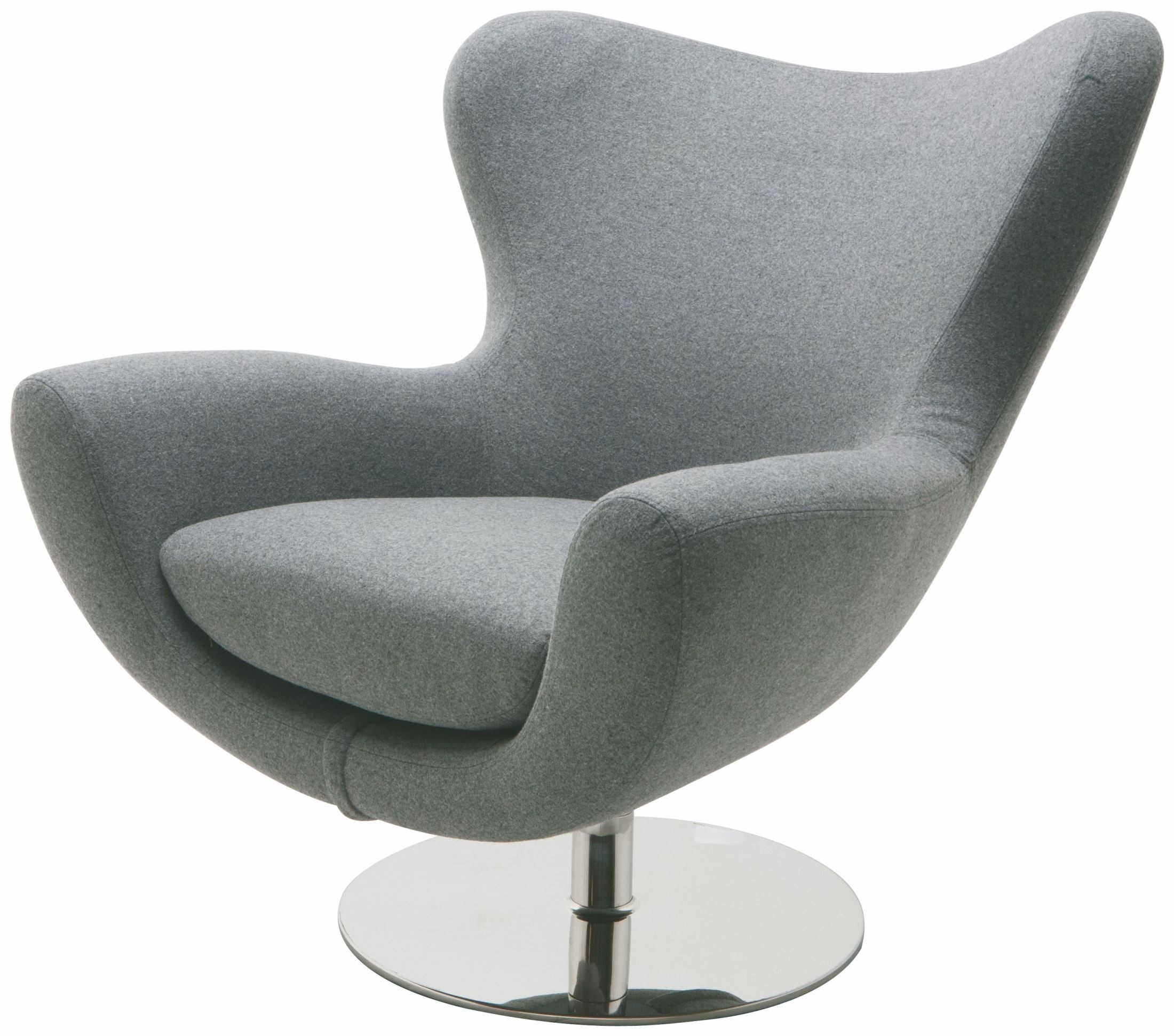 Modern Comfortable Furniture: Conner Light Grey Fabric Lounger Chair From Nuevo