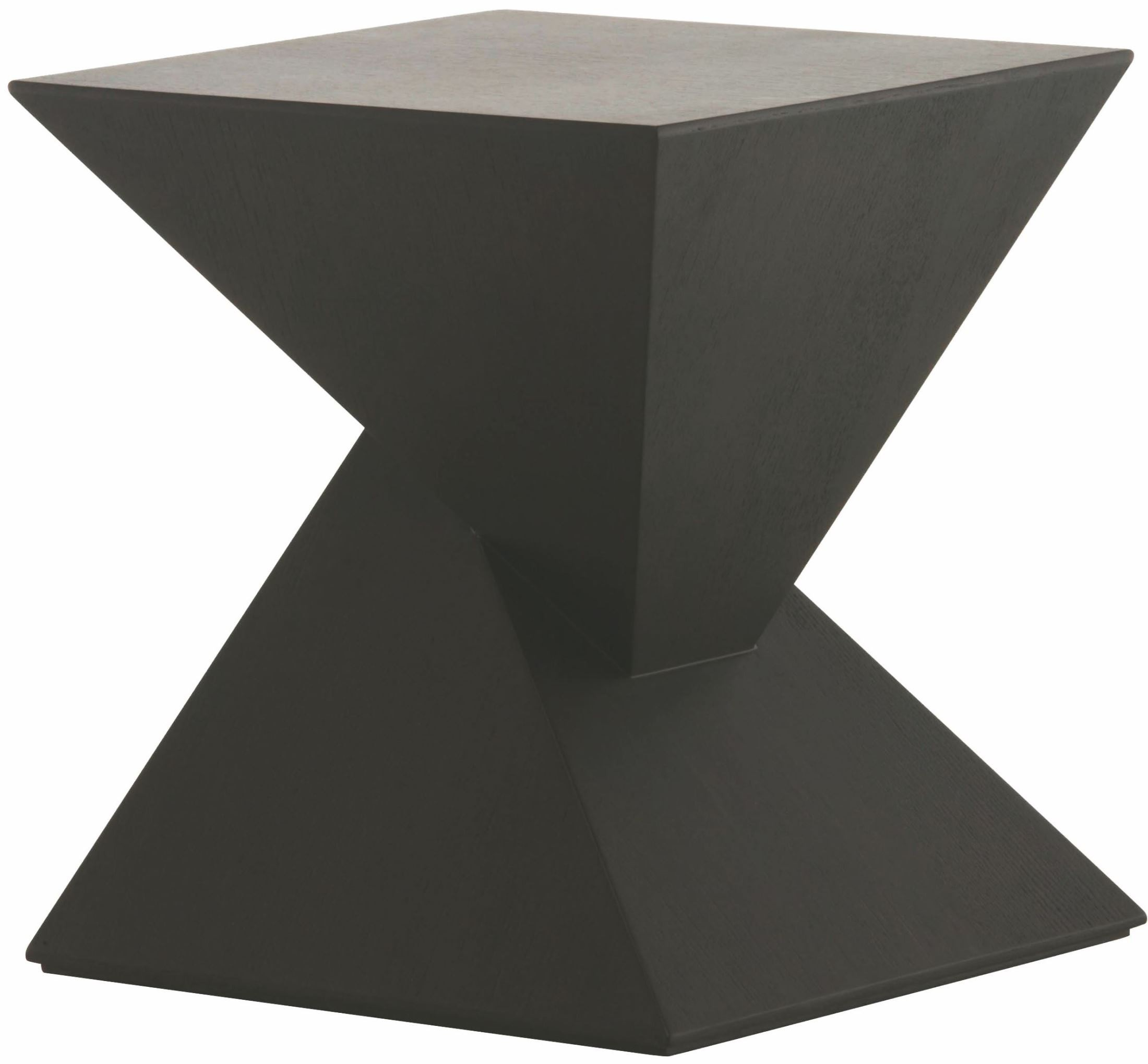 Giza black wood side table from nuevo coleman furniture for Black wood end tables