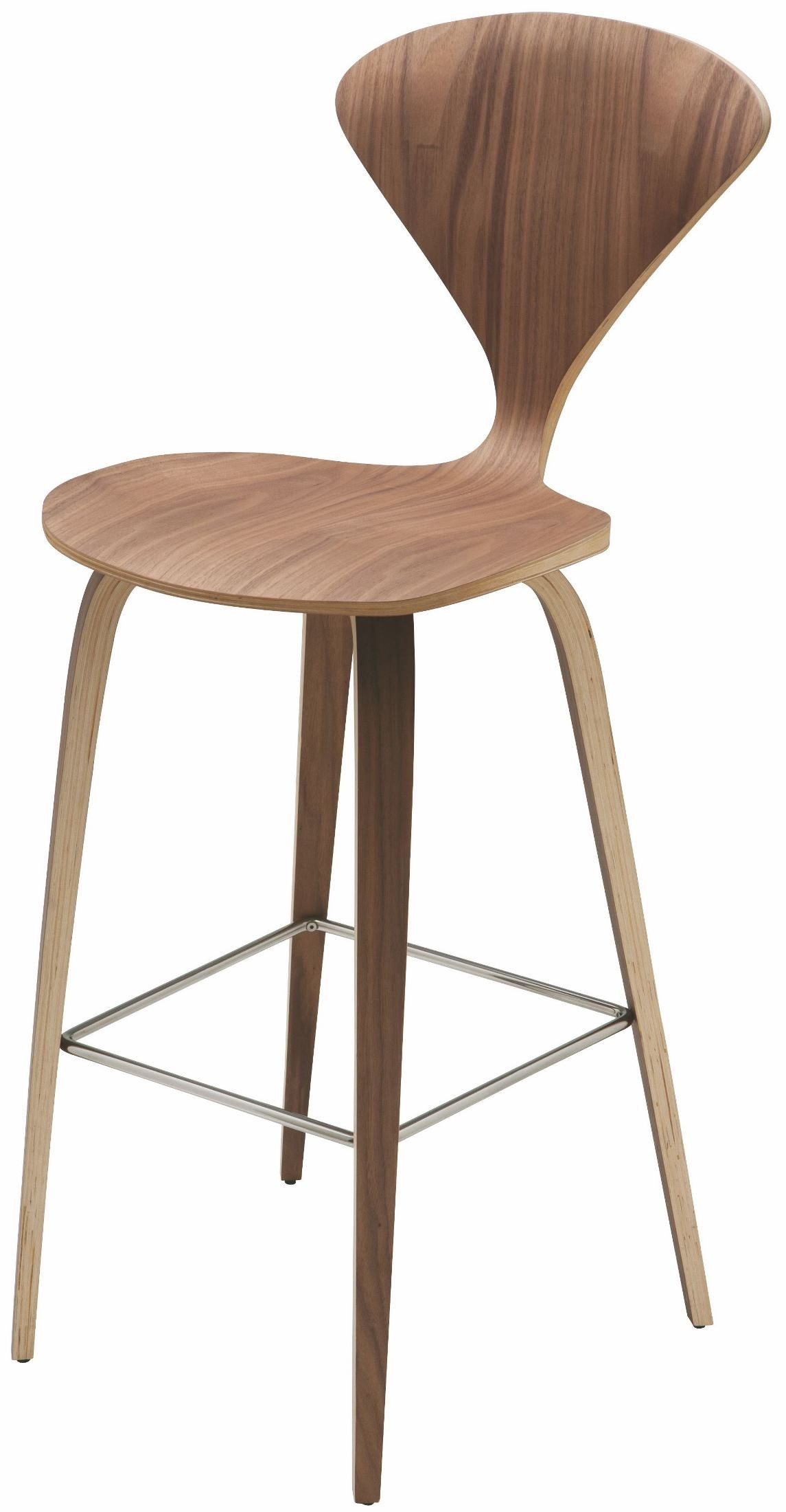 Satine Walnut Wood Bar Stool From Nuevo Coleman Furniture