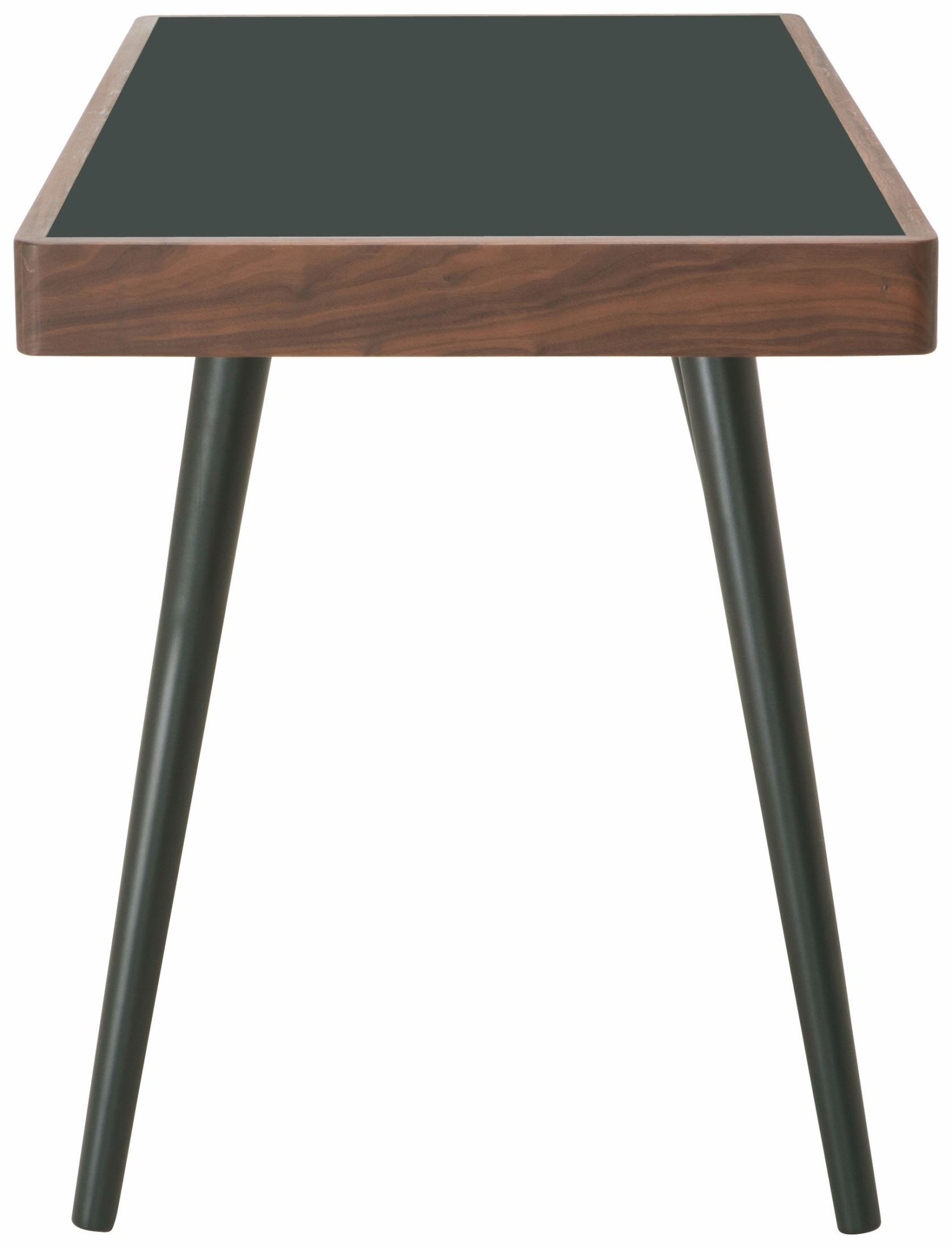 matte black melamine desk table hgem498 nuevo. Black Bedroom Furniture Sets. Home Design Ideas