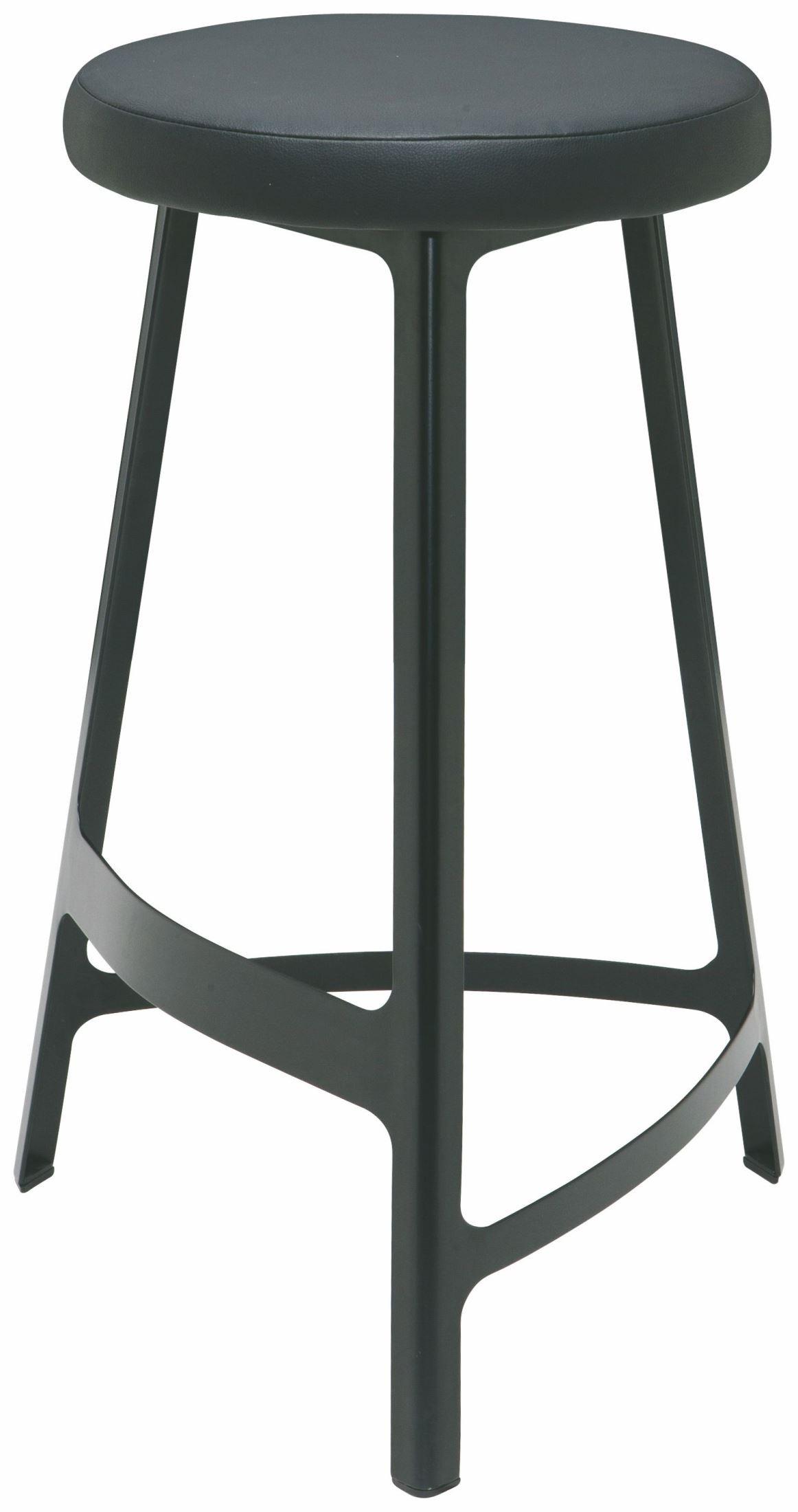 Hyku black naugahyde counter stool from nuevo coleman for Black counter stools