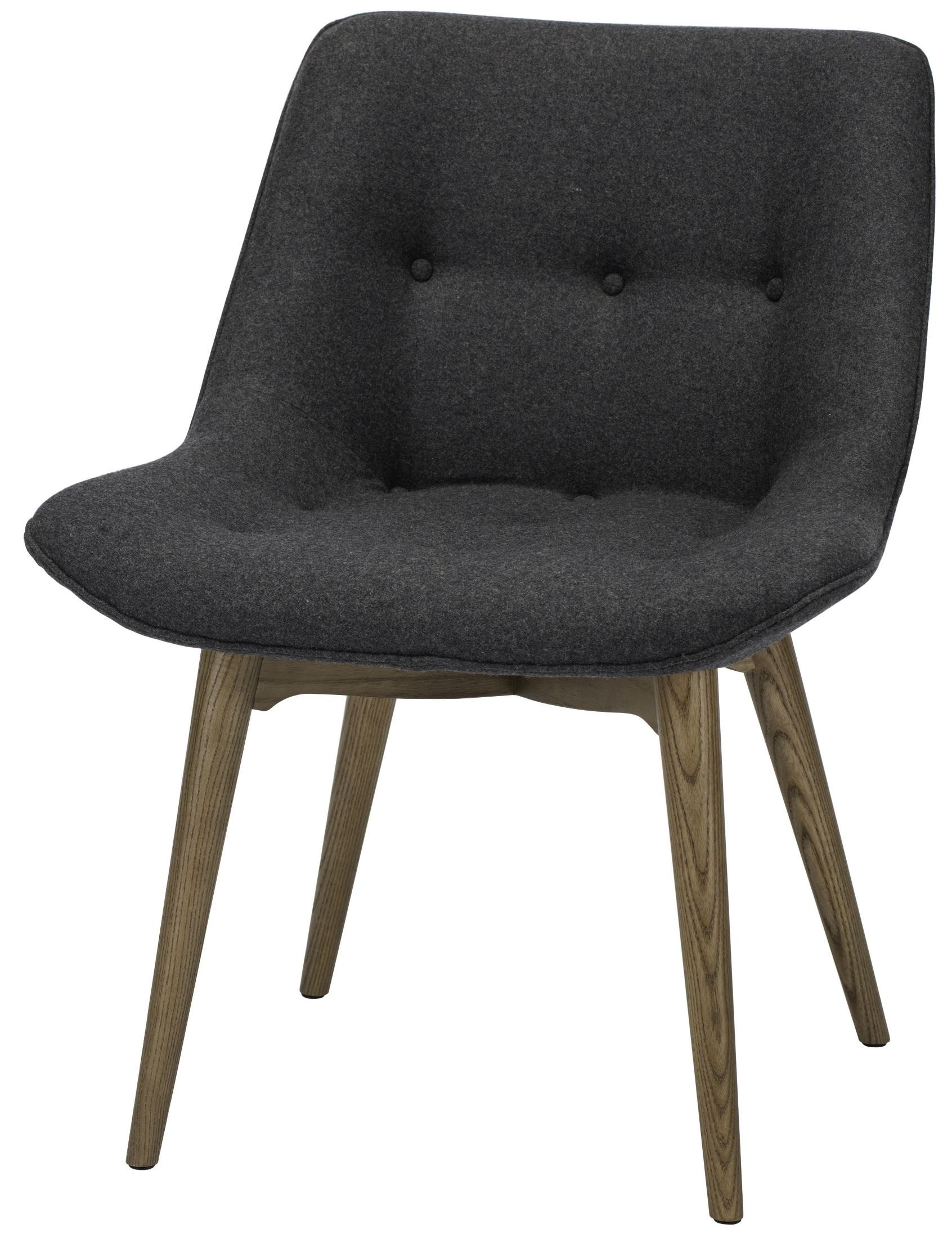 Brie Dark Grey Fabric Dining Chair From Nuevo Coleman
