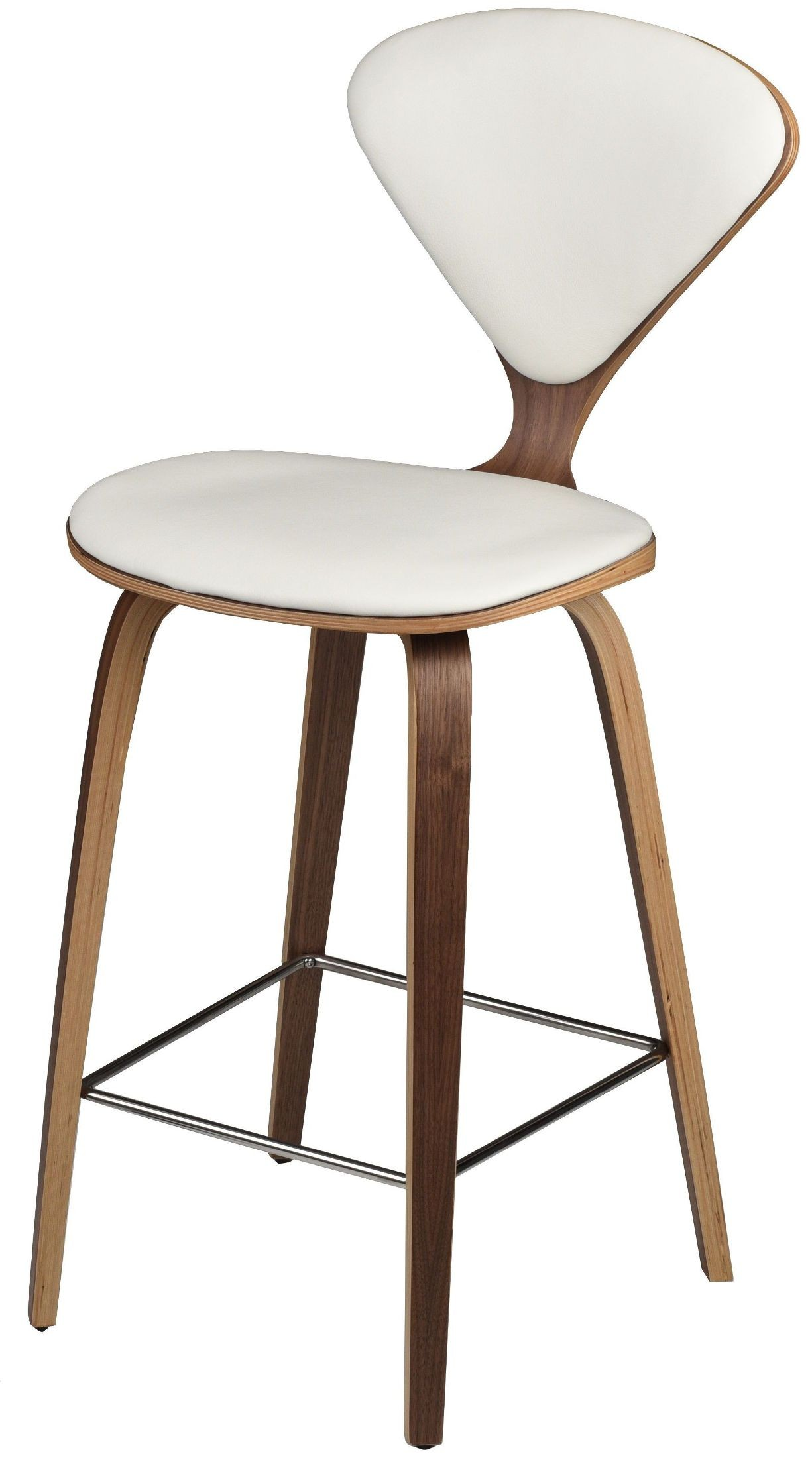 Satine White Counter Stool Set Of 2 From Nuevo Coleman