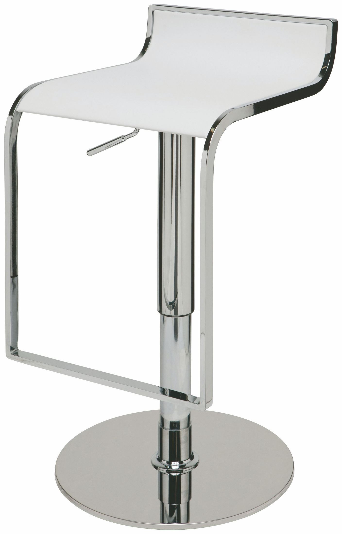 Alexander White Leather Adjustable Stool From Nuevo
