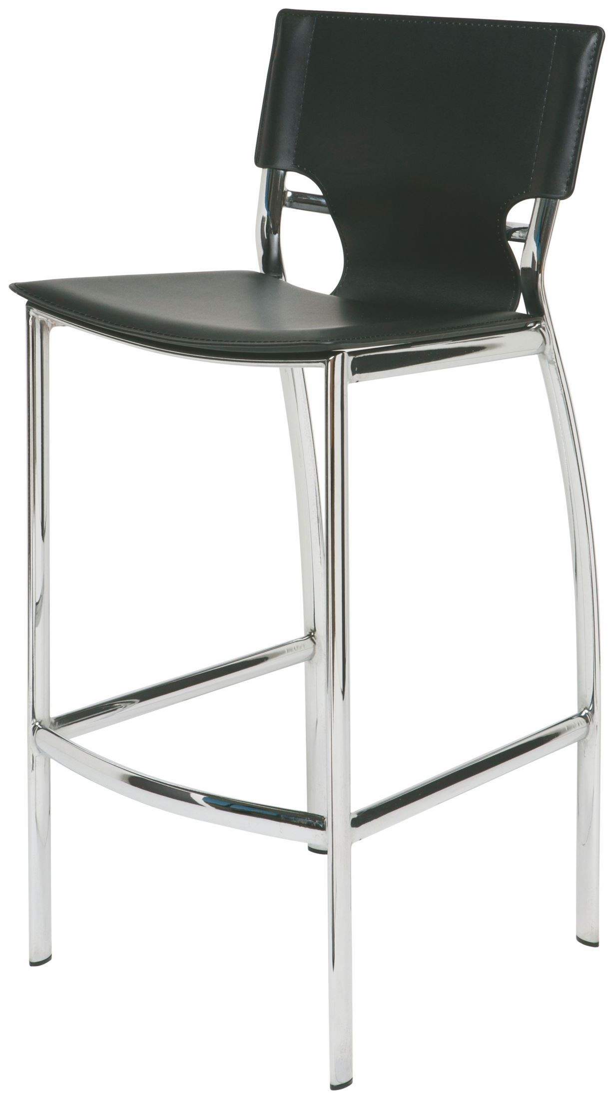 Lisbon Black Leather Bar Stool From Nuevo Coleman Furniture