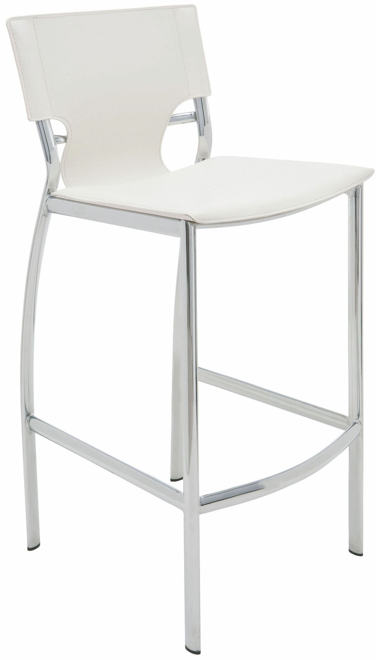 Lisbon White Leather Counter Stool From Nuevo Coleman