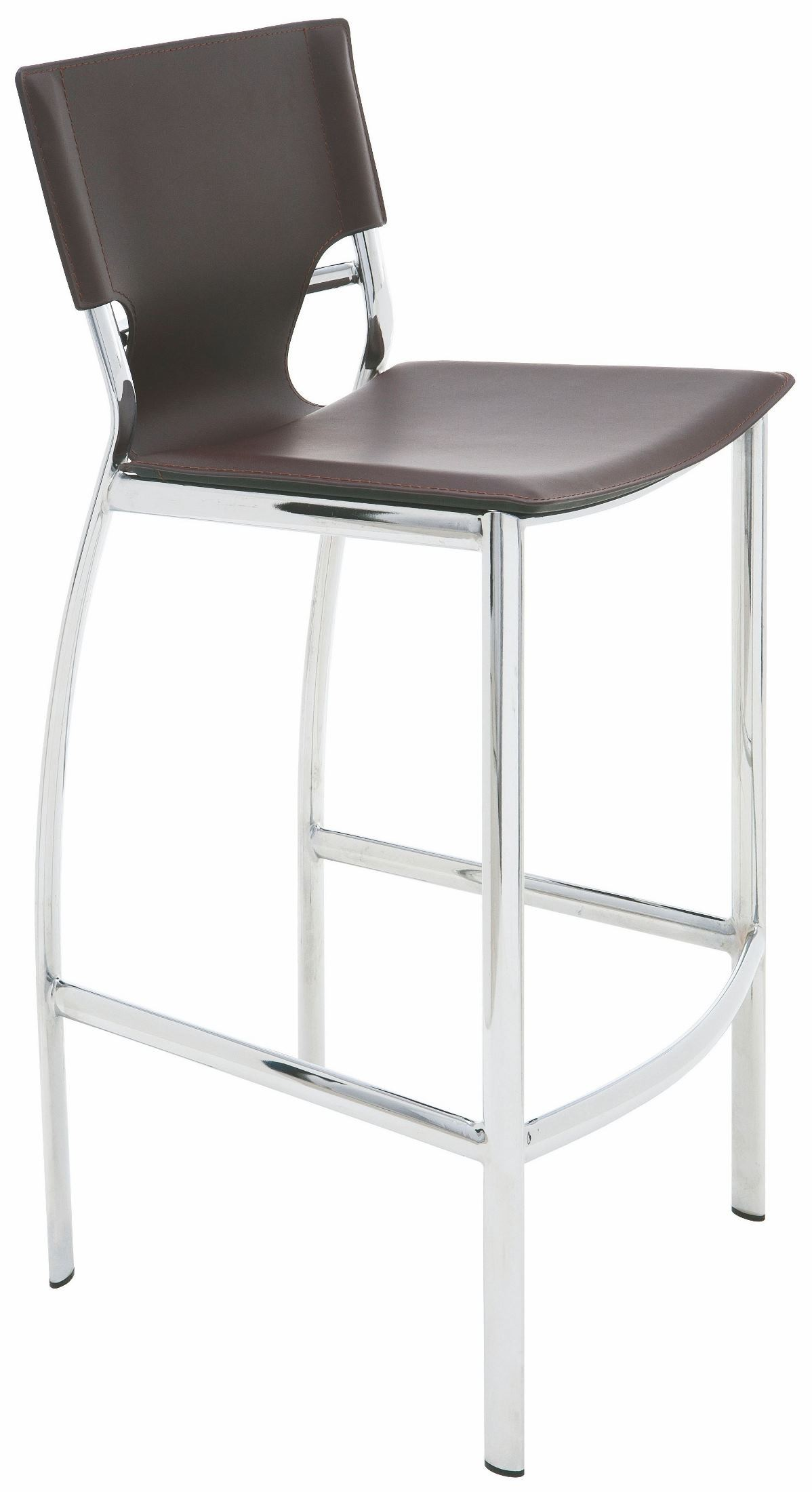 Lisbon Brown Leather Counter Stool From Nuevo Coleman Furniture
