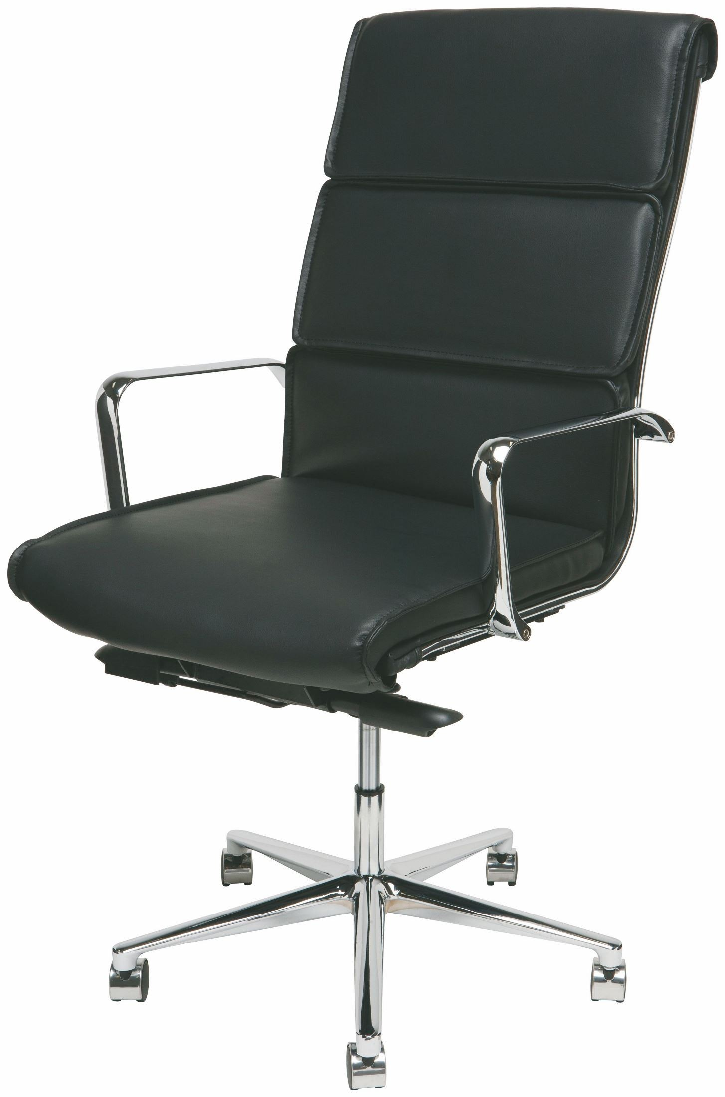 Lucia Black and Silver Metal High Back fice Chair from