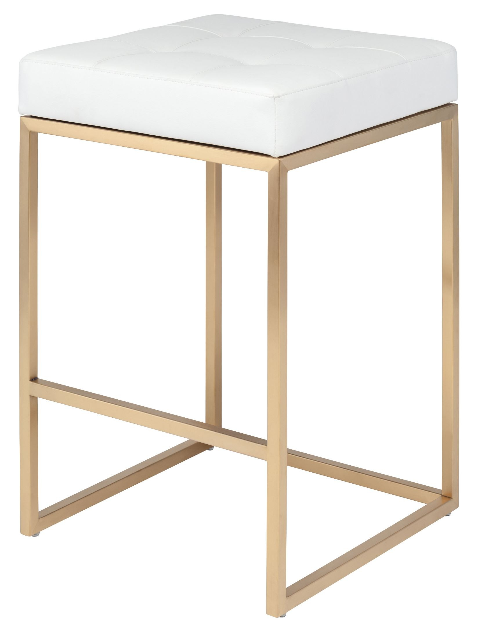 Chi White Naugahyde Counter Stool From Nuevo Coleman