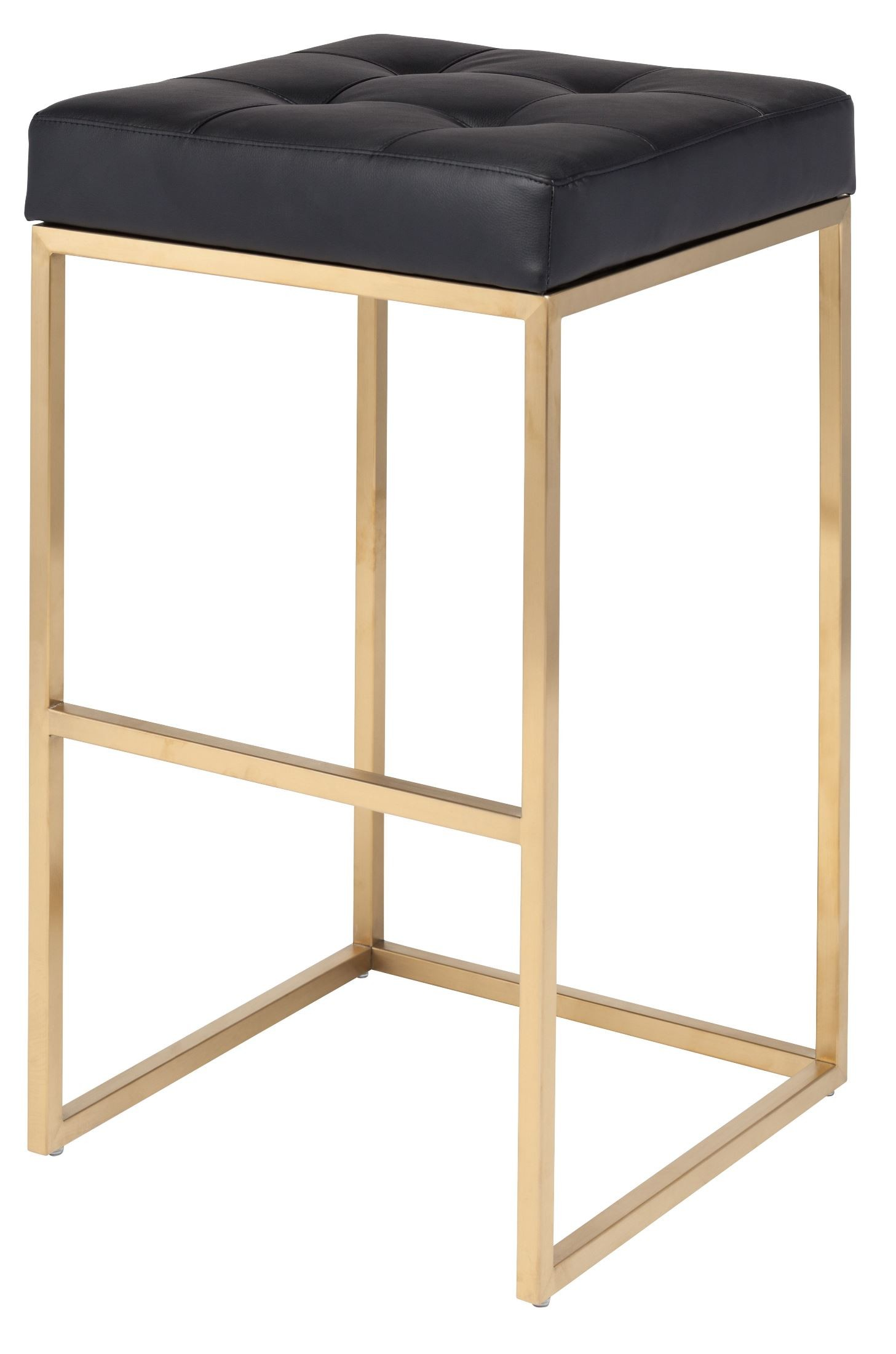 Chi Black Naugahyde Bar Stool From Nuevo Coleman Furniture