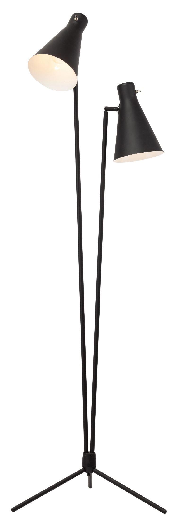 Thom Black Metal Floor Lamp from Nuevo