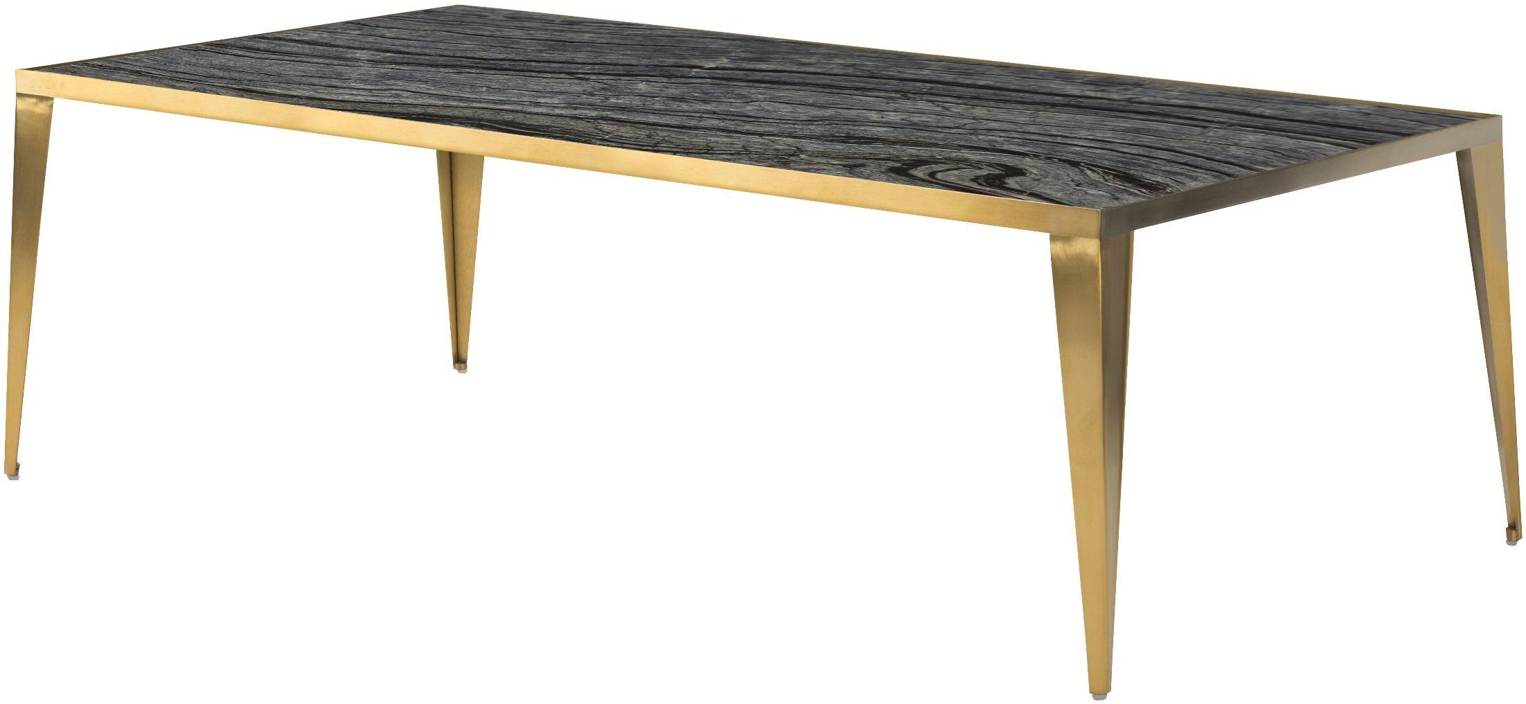 Mink Black Stone Coffee Table Hgna141 Nuevo