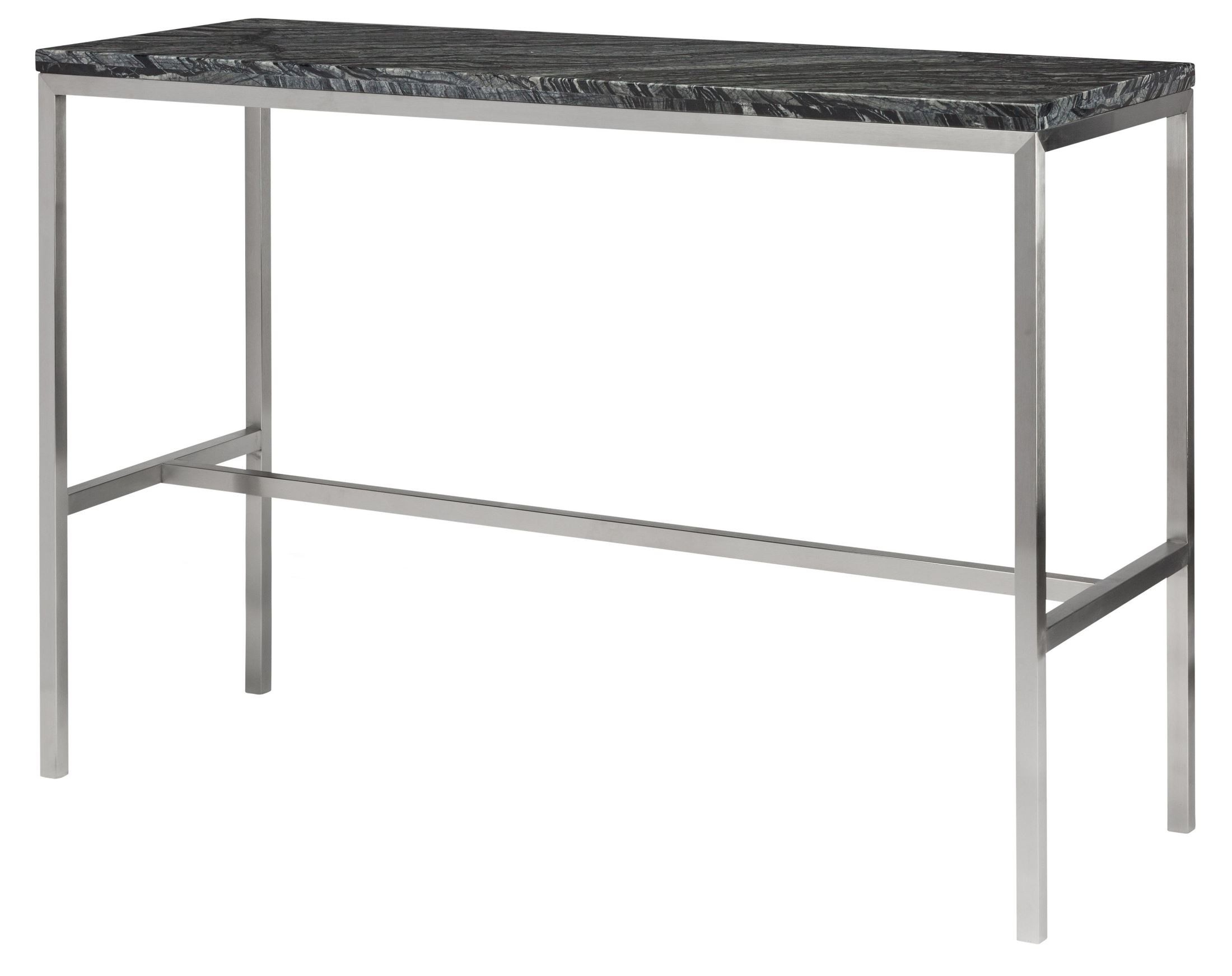 Verona 36 high black stone bar table from nuevo coleman for Table bar 6 personnes