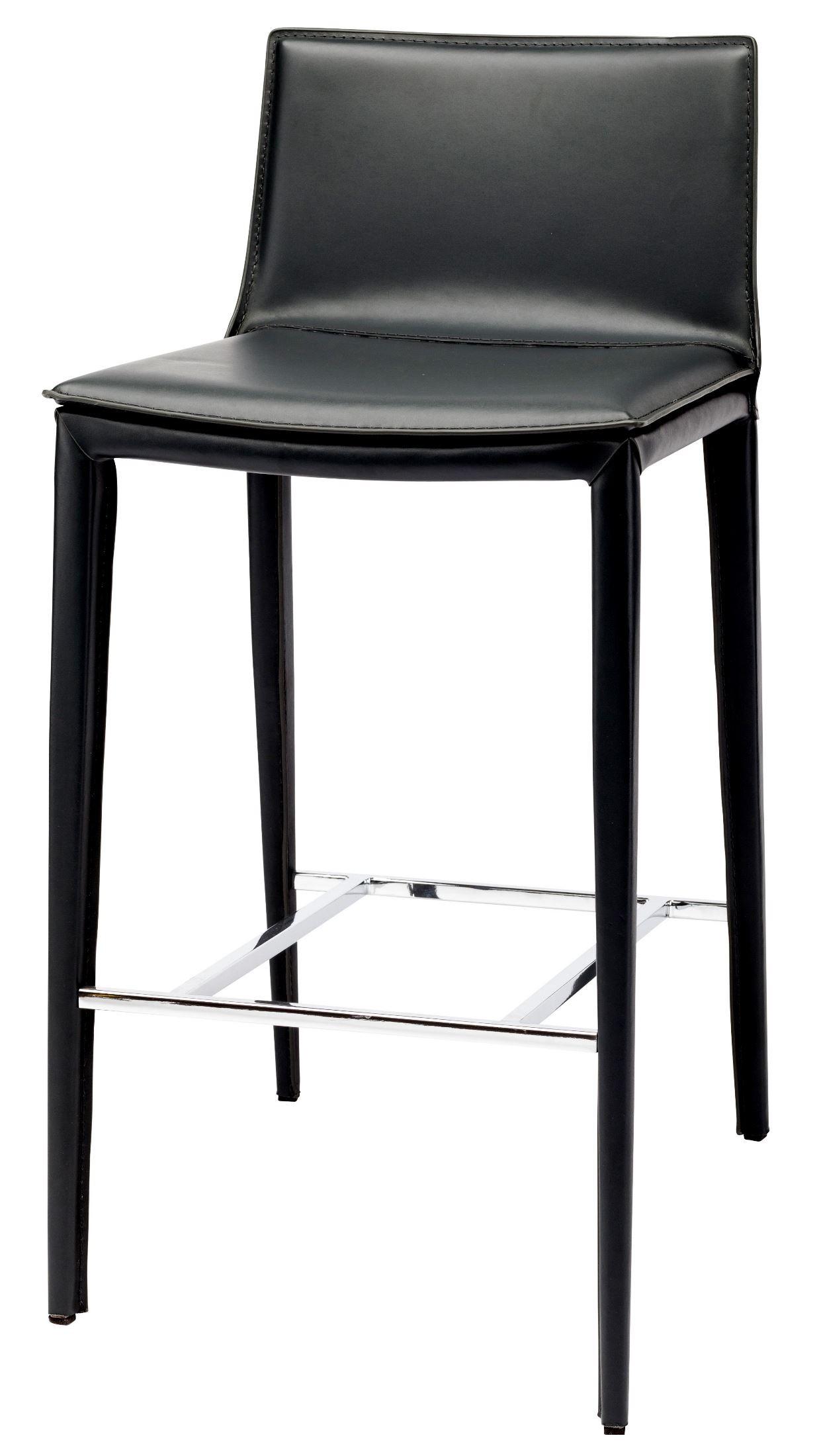 Palma Black Leather Bar Stool From Nuevo Coleman Furniture
