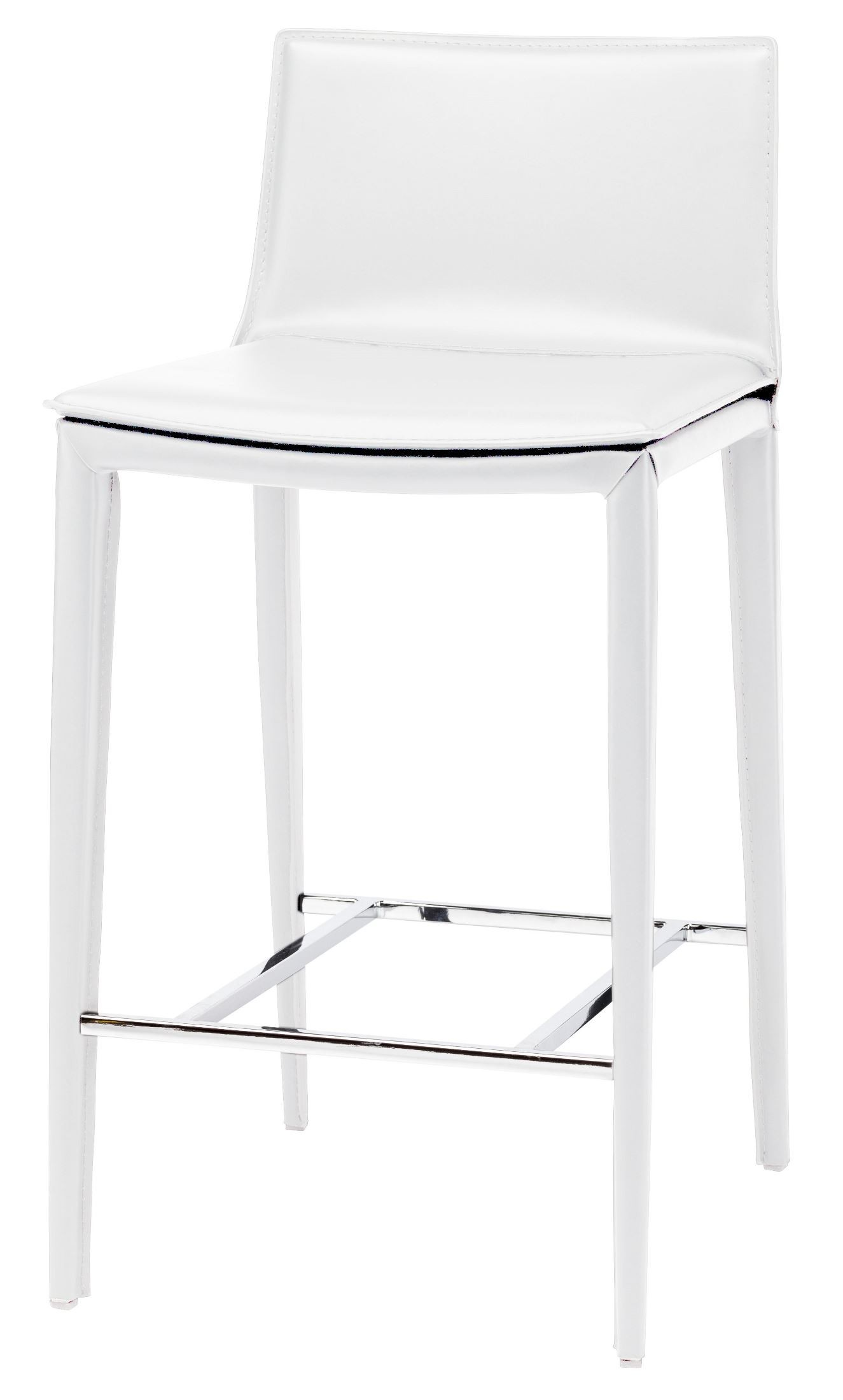 Palma White Leather Counter Stool From Nuevo Coleman
