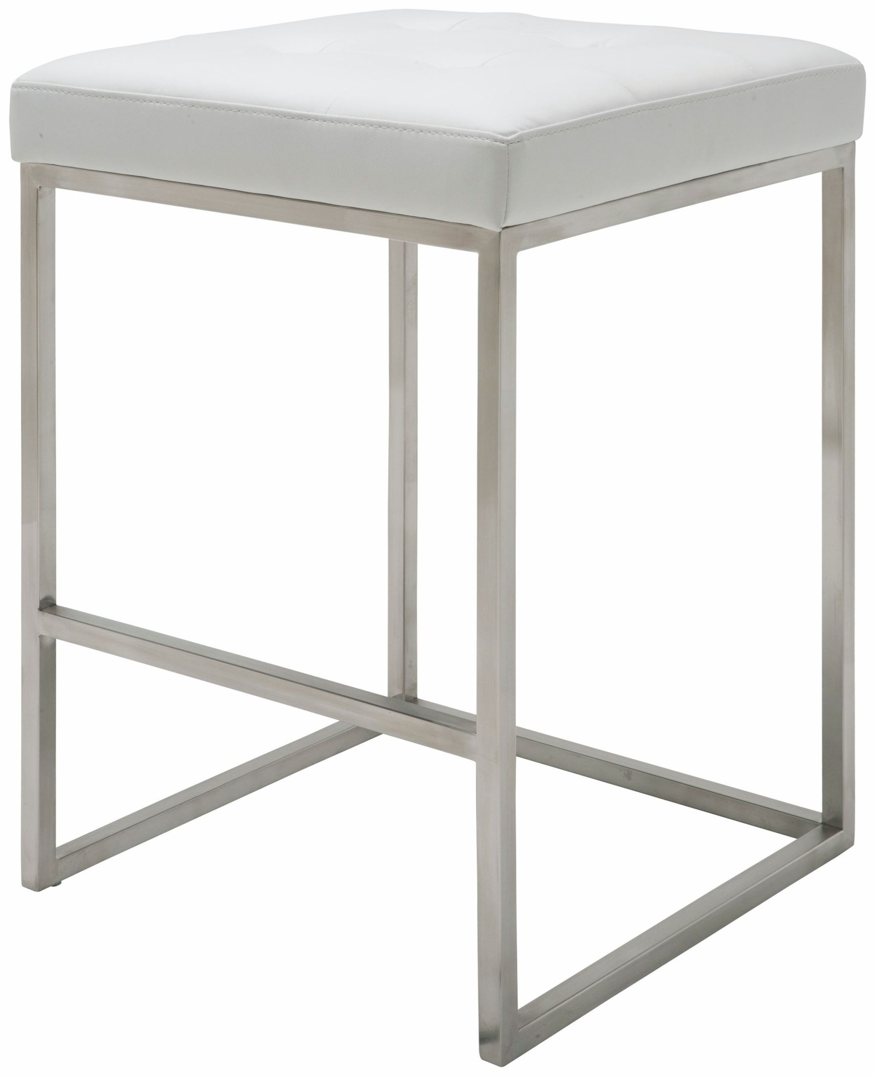 Chi White Leather Counter Stool From Nuevo Coleman Furniture