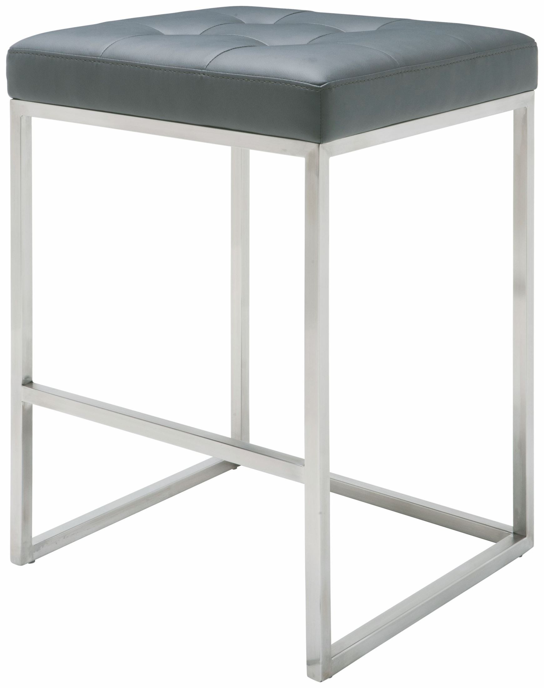 Chi Grey Leather Counter Stool From Nuevo Coleman Furniture
