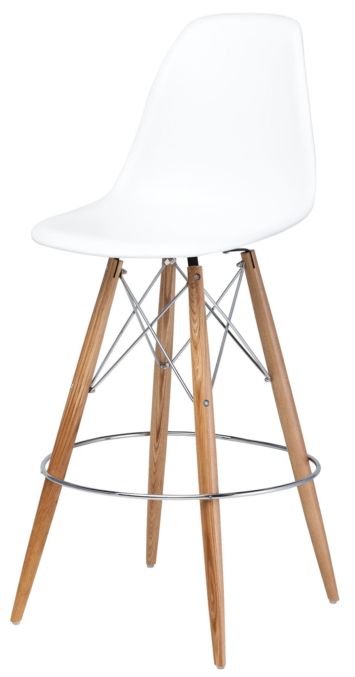 Charlotte White Polymer Bar Stool From Nuevo Coleman Furniture