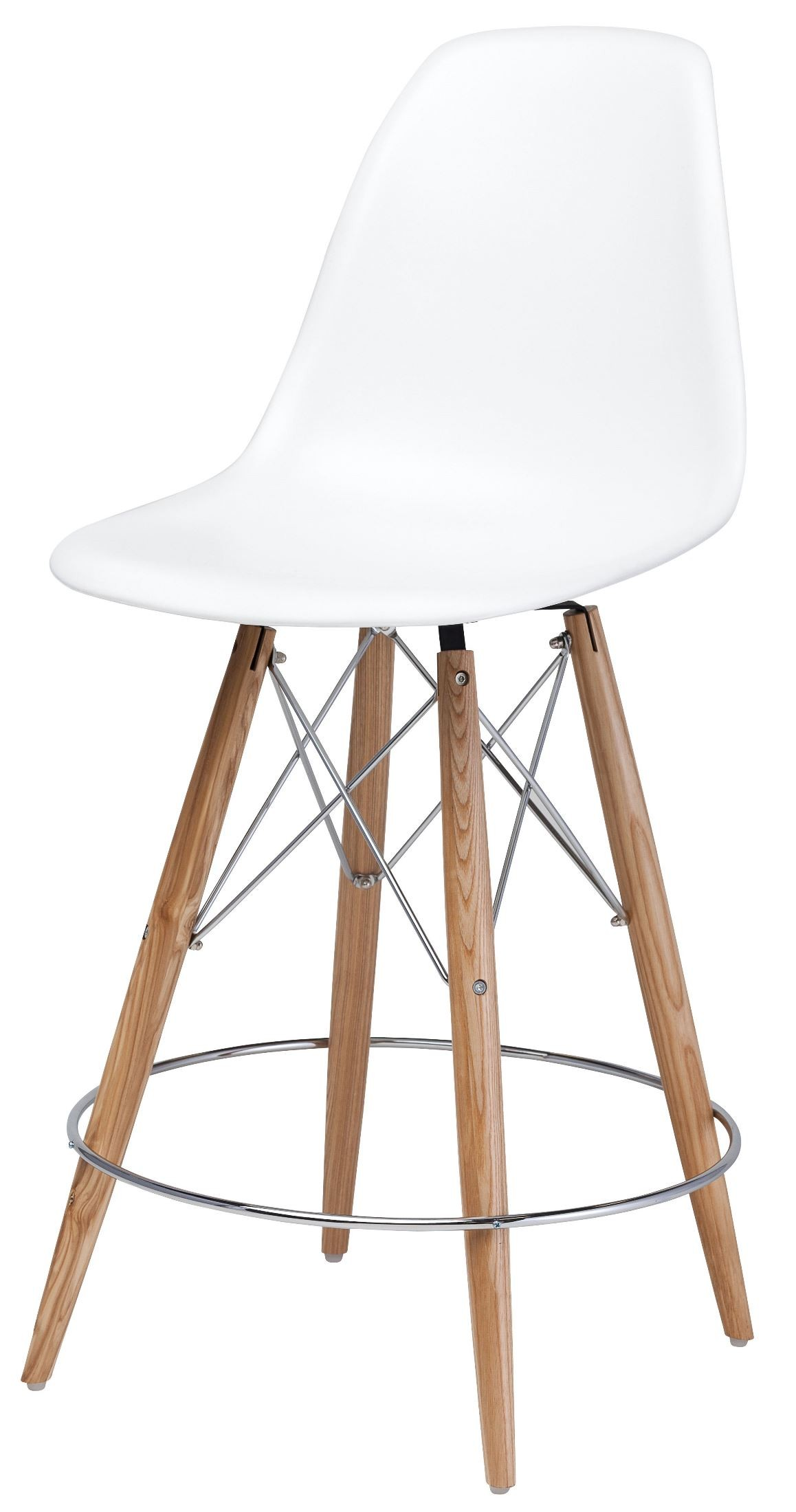 Charlotte White Polymer Counter Stool From Nuevo Coleman