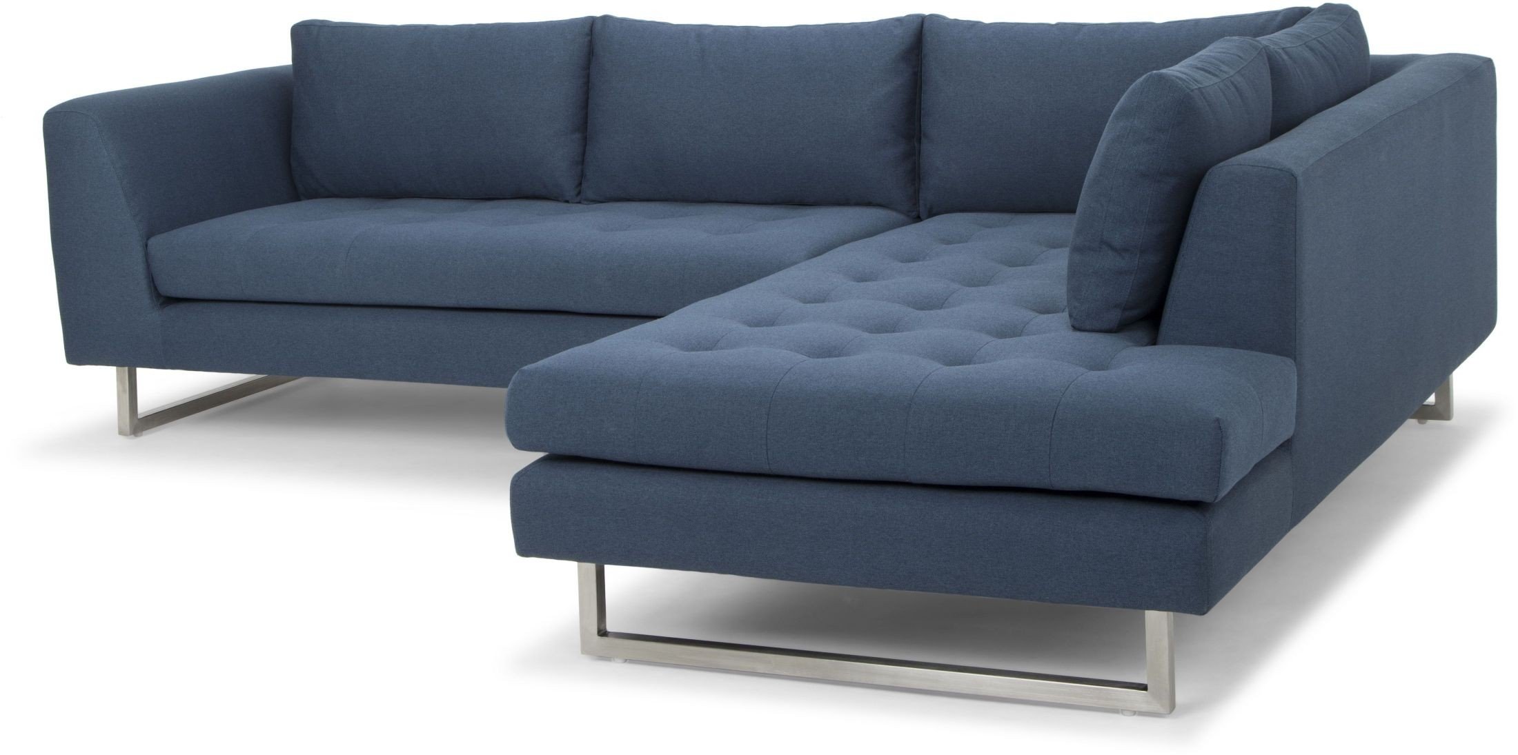 Janis Blue Fabric Raf Sectional Sofa From Nuevo Coleman
