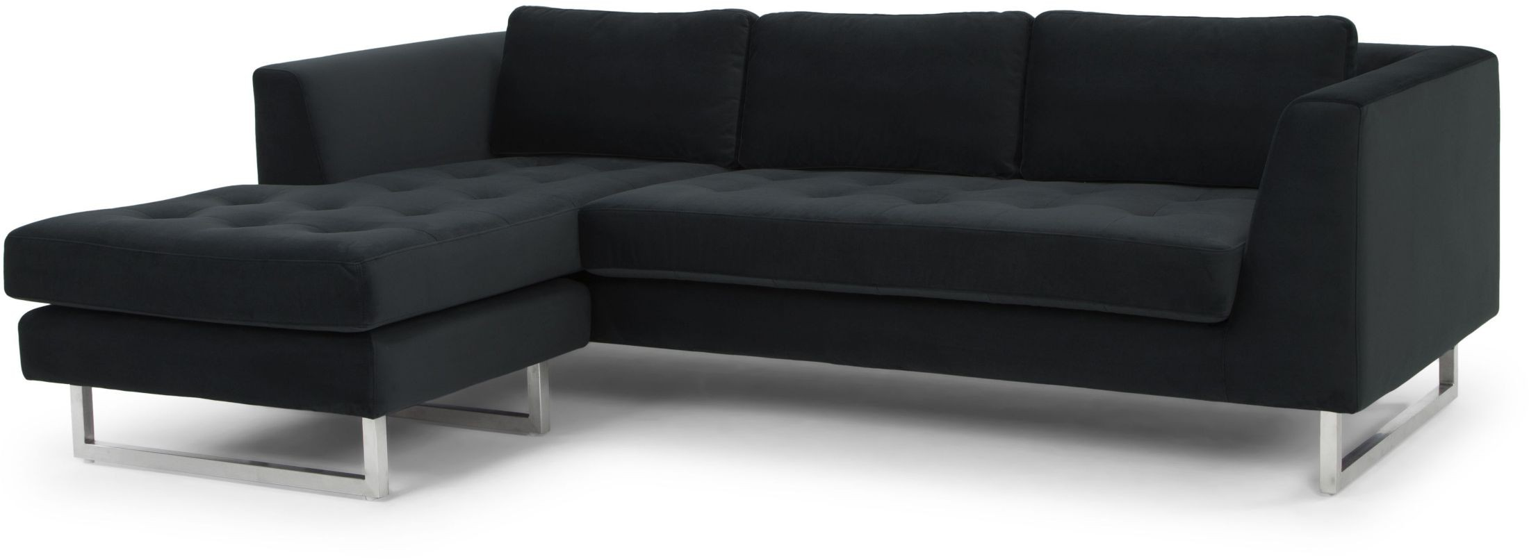 matthew shadow grey fabric sectional sofa from nuevo. Black Bedroom Furniture Sets. Home Design Ideas