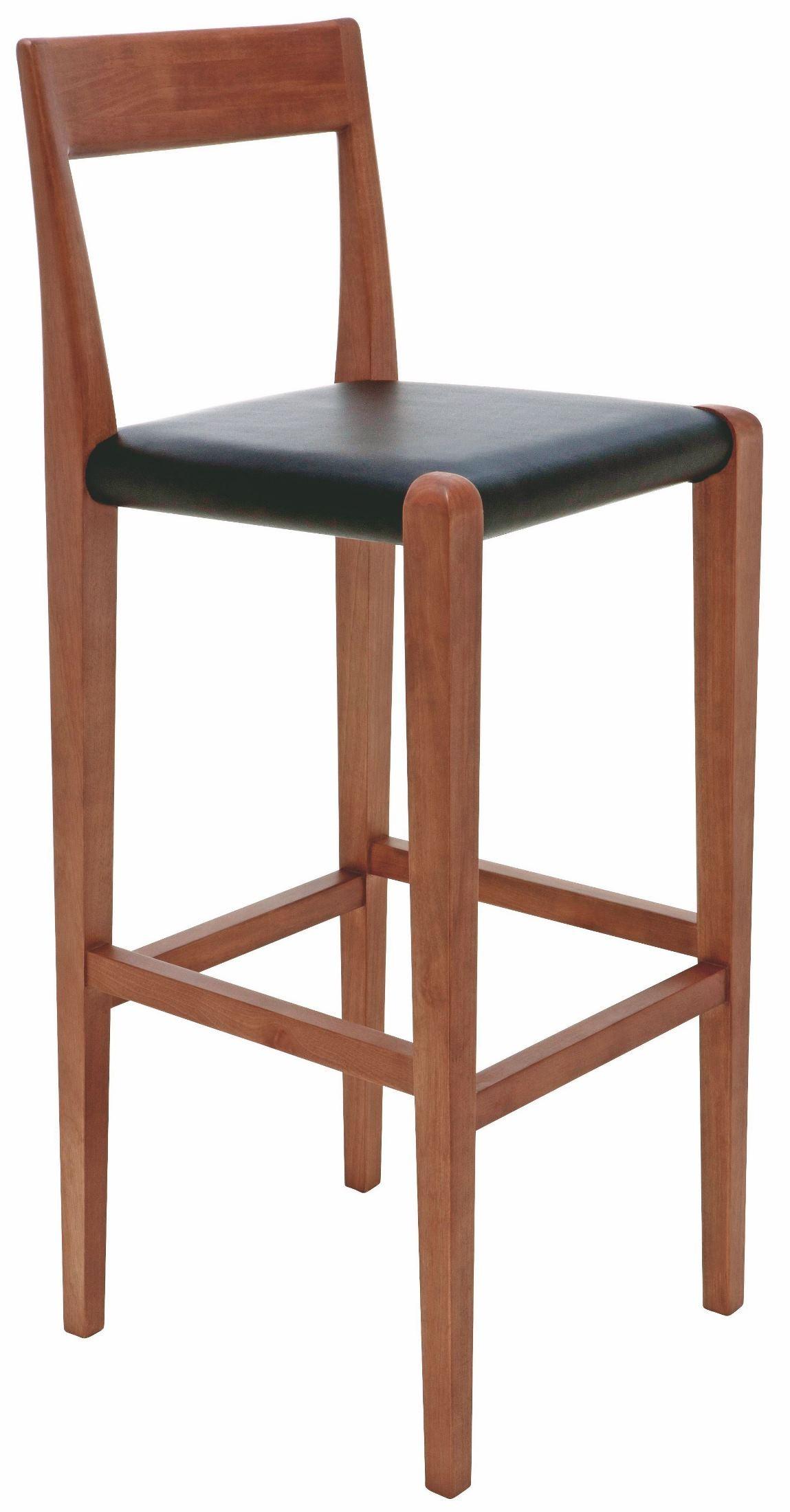 Ameri Black Leather Bar Stool From Nuevo Coleman Furniture