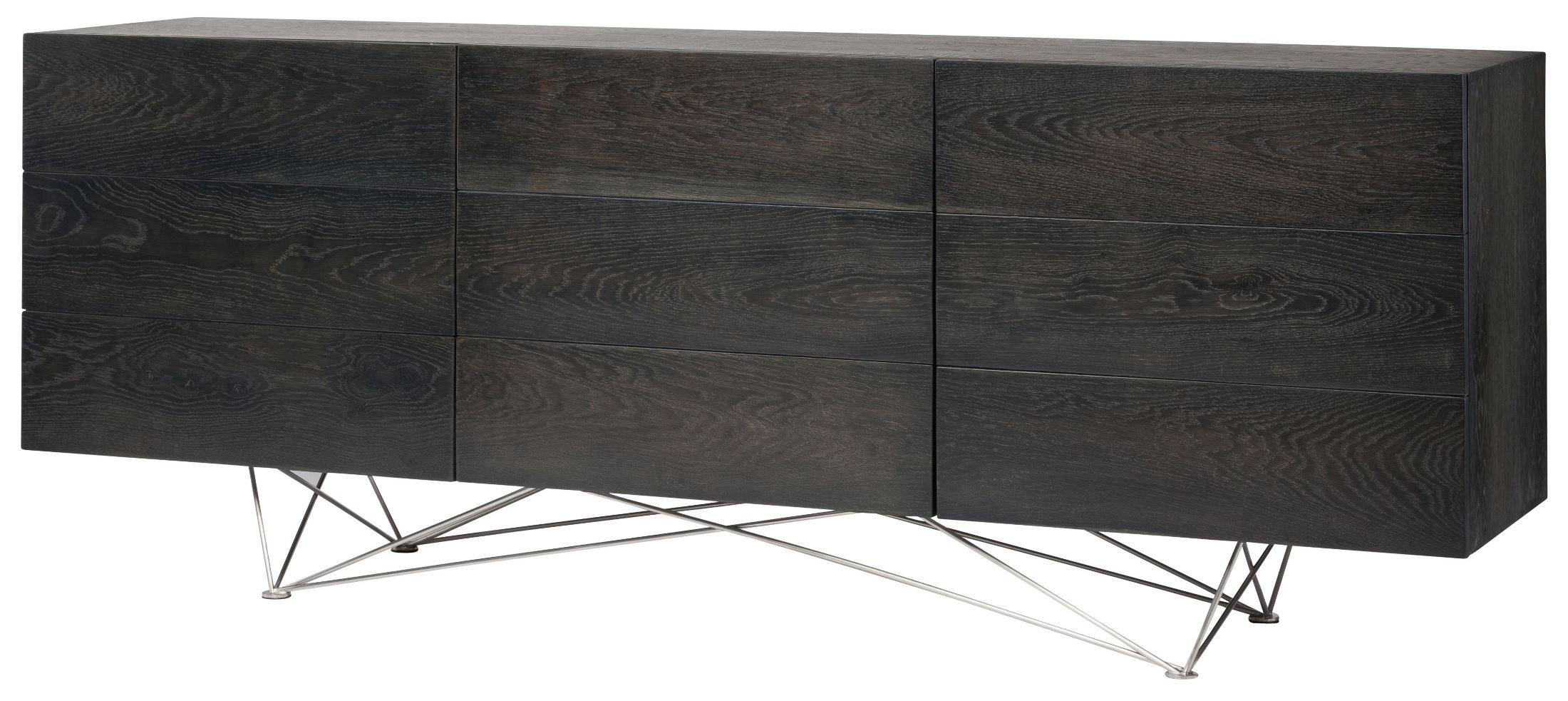 Zola Bathroom Mirrors zola ebonized wood sideboard cabinet from nuevo | coleman furniture