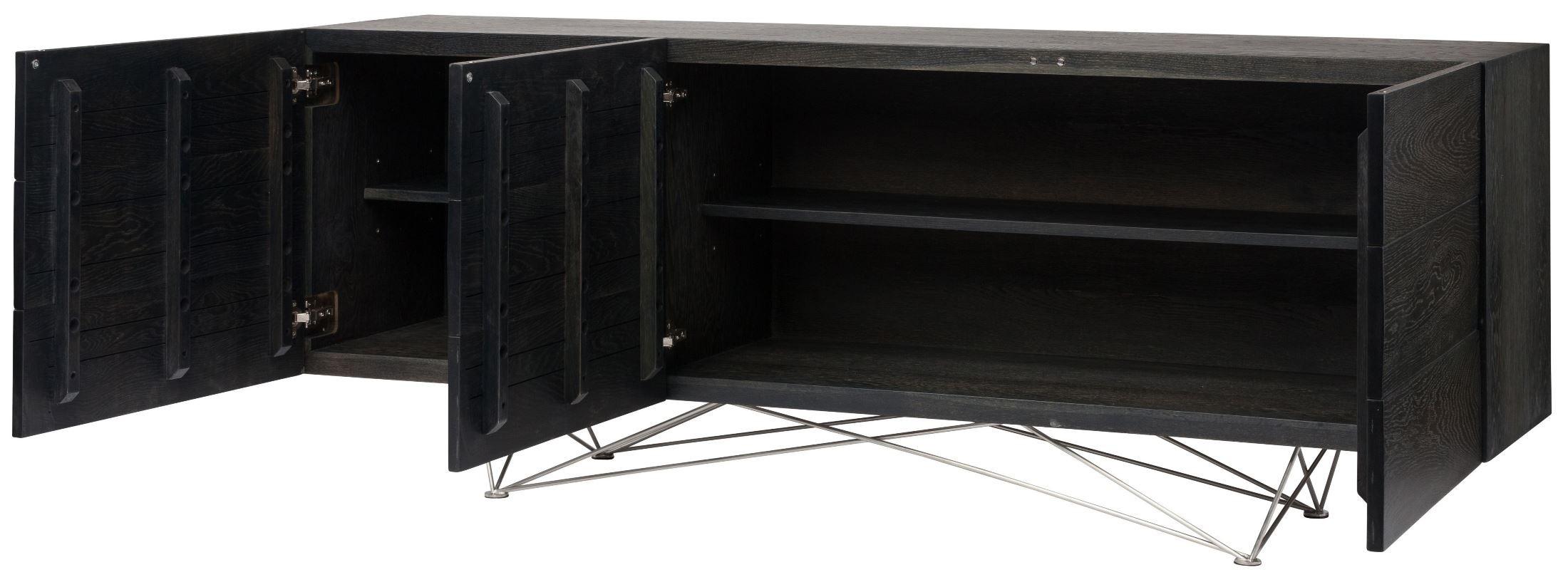 Zola Ebonized Wood Sideboard Cabinet, HGSR464, Nuevo
