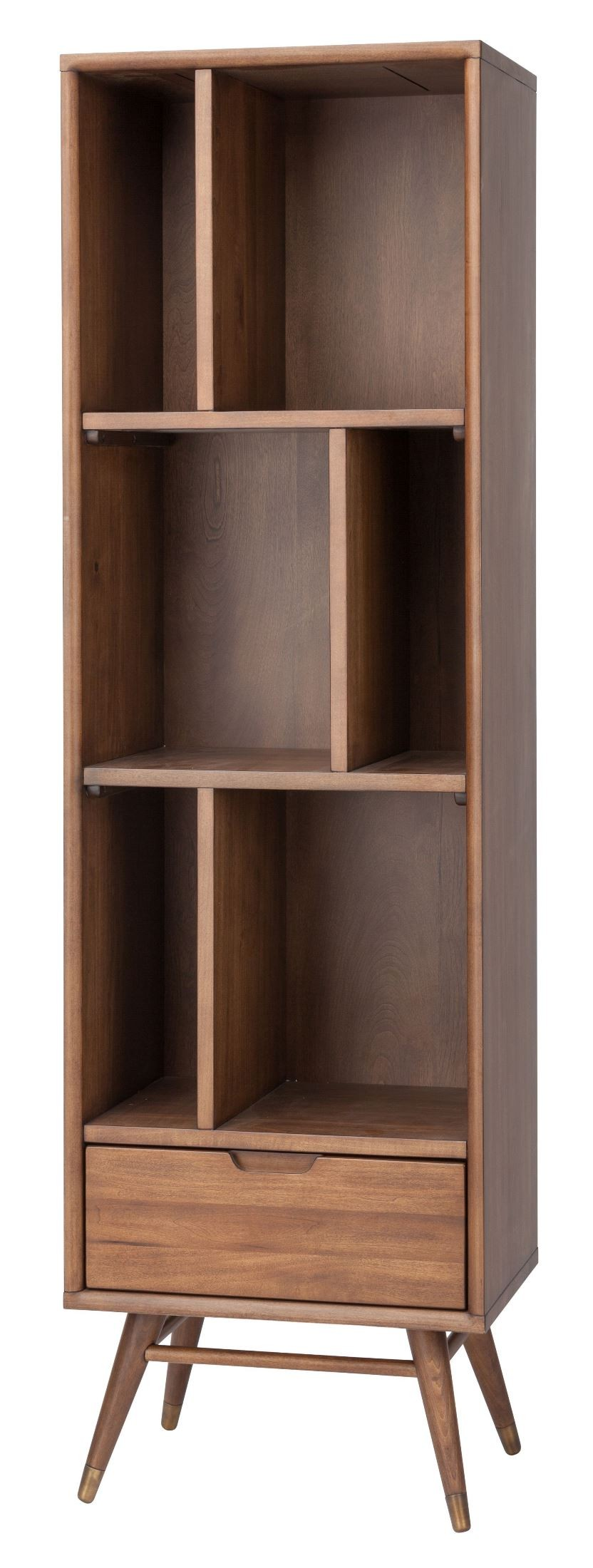 Timber Bookcase: Baas Walnut Wood Small Bookcase Shelving From Nuevo