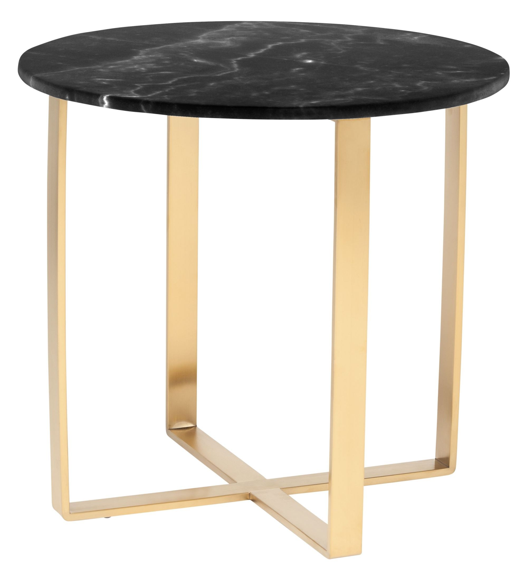 rosa black stone side table
