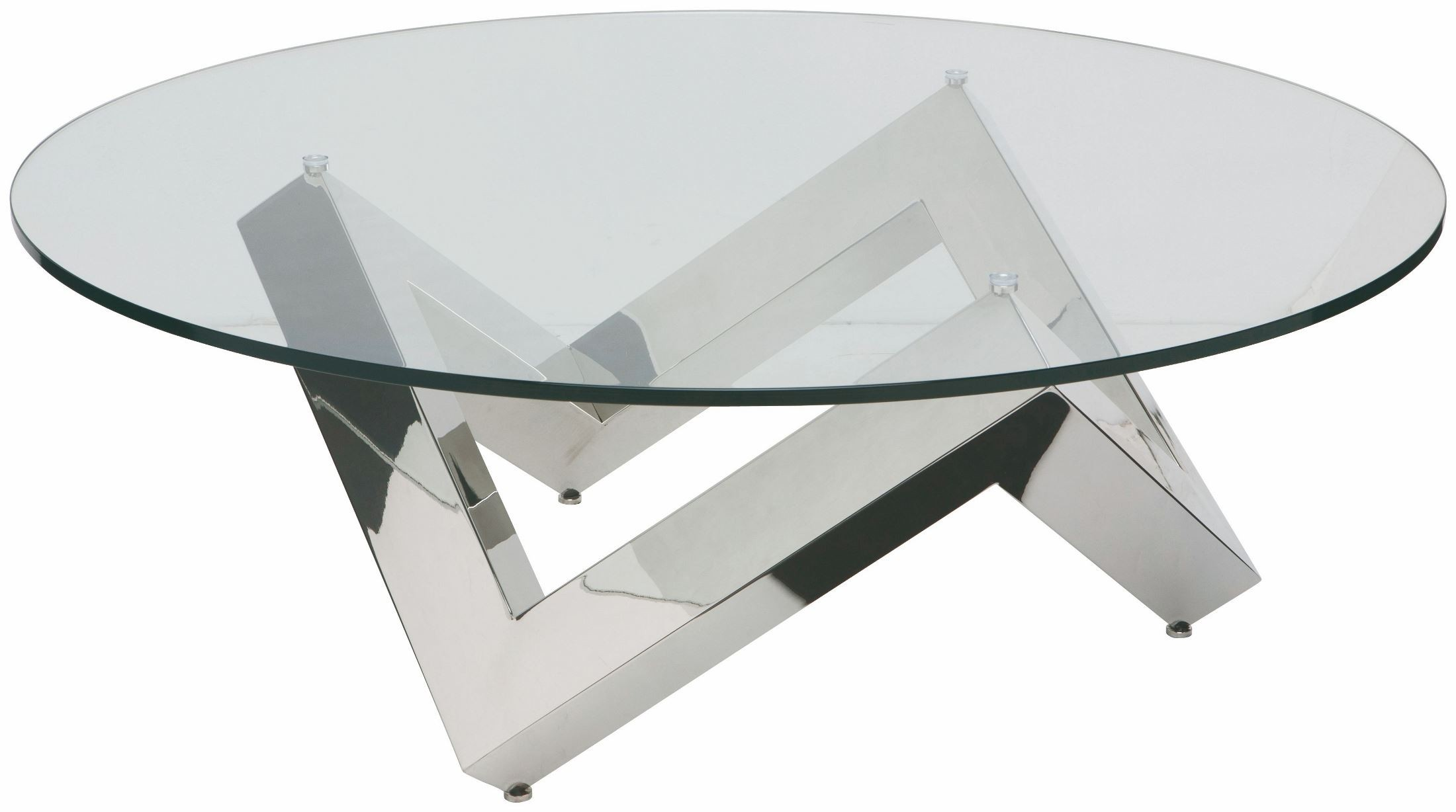 Como Silver Clear Glass Coffee Table From Nuevo Coleman Furniture